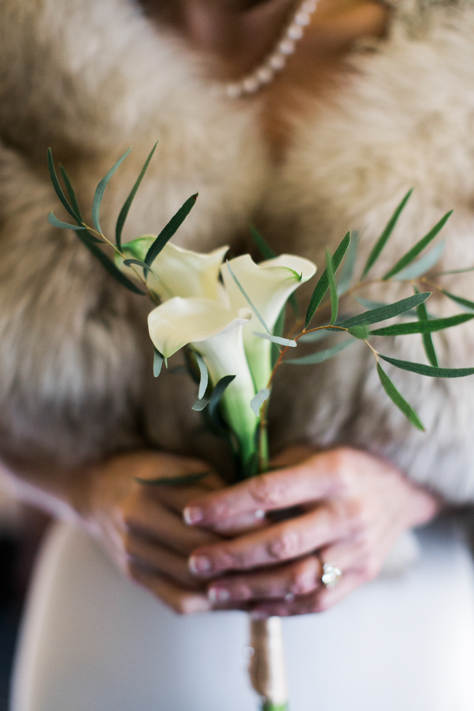 Simple white Callalilly bouquet - photo by Stephanie Cristalli Photography