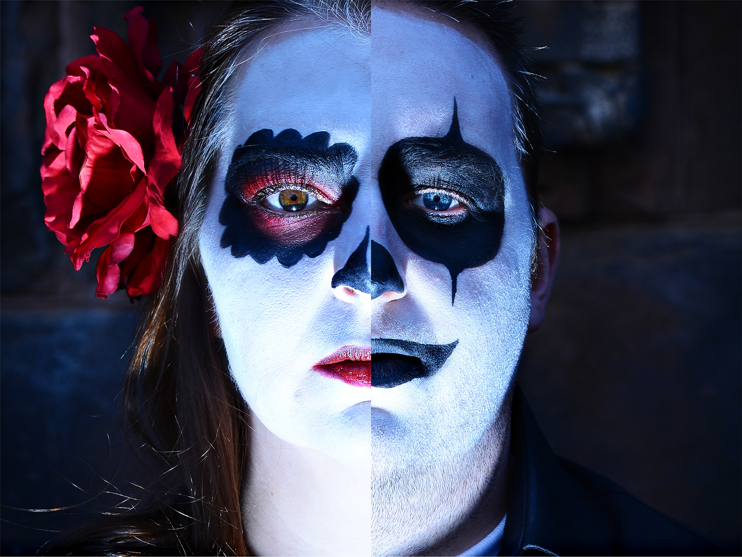 Day of the dead him and her portrait - photo by Jeff Tisman Photography