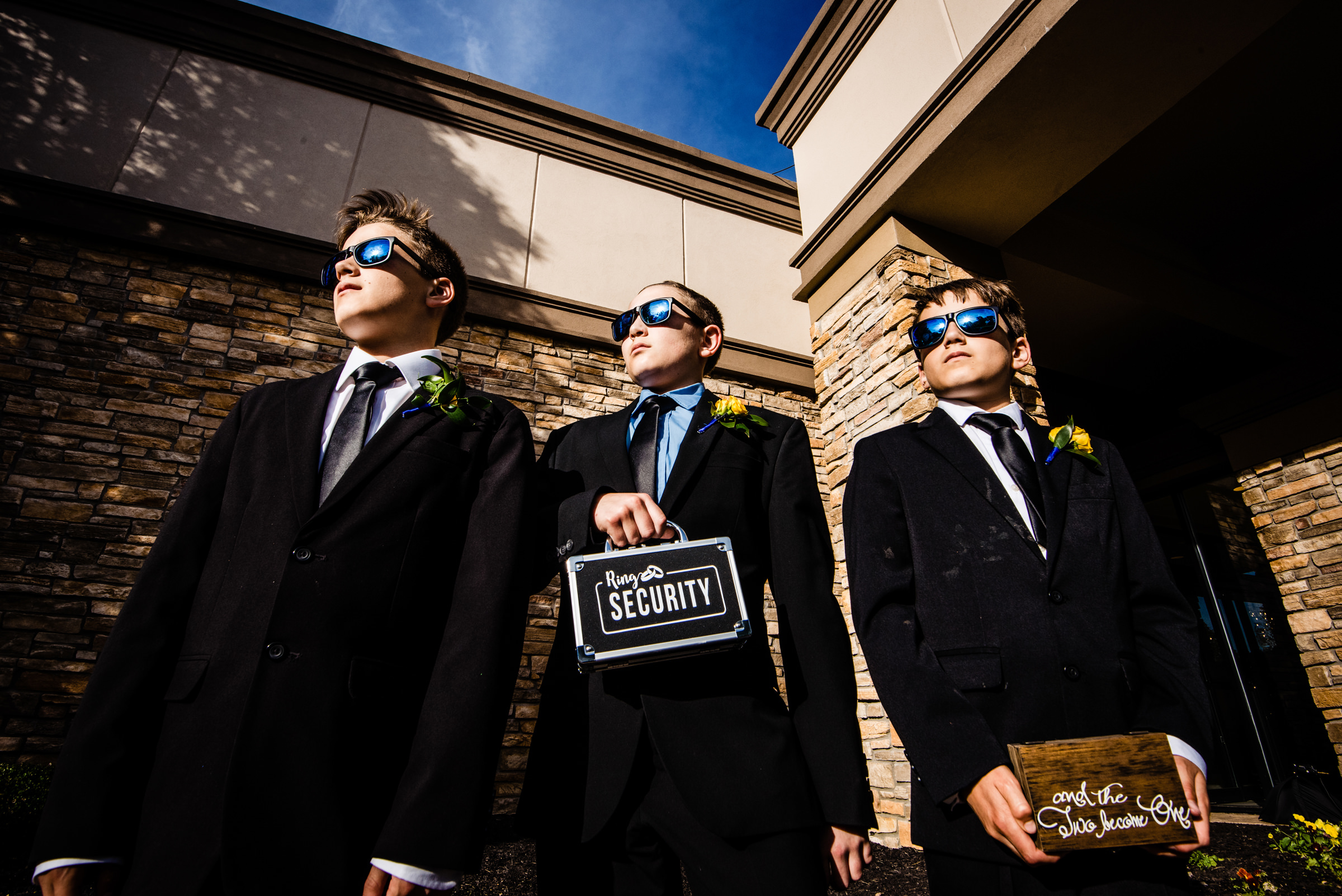 Teens pictured as security detail - photo by Jeff Tisman Photography