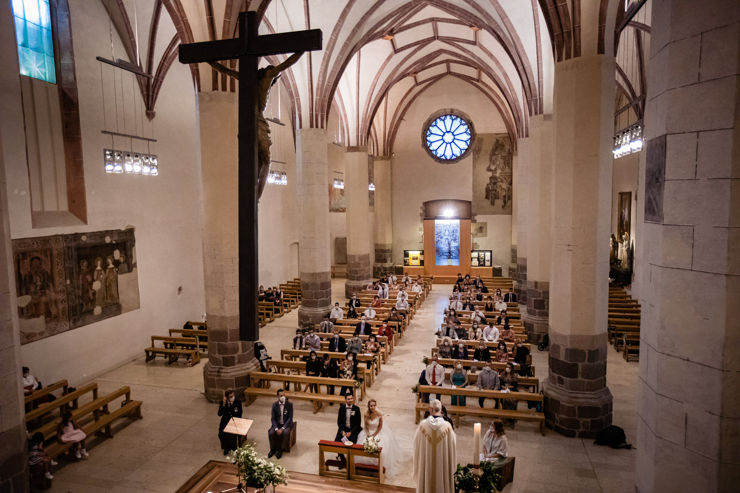 Long view of church ceremony - photo by Luca + Marta Gallizio Photography