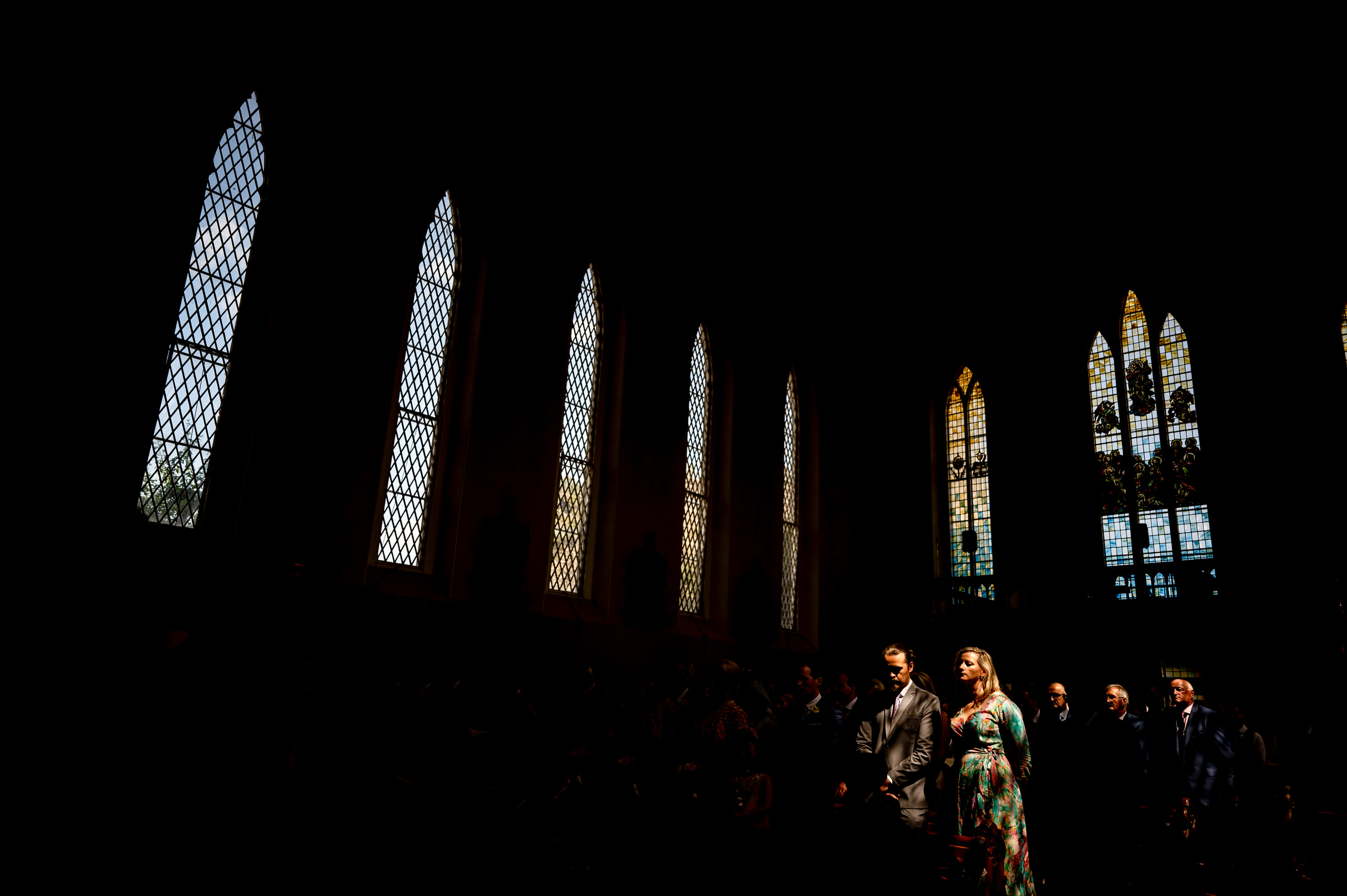 Parents in the spotlight at church wedding - photo by John Gillooley