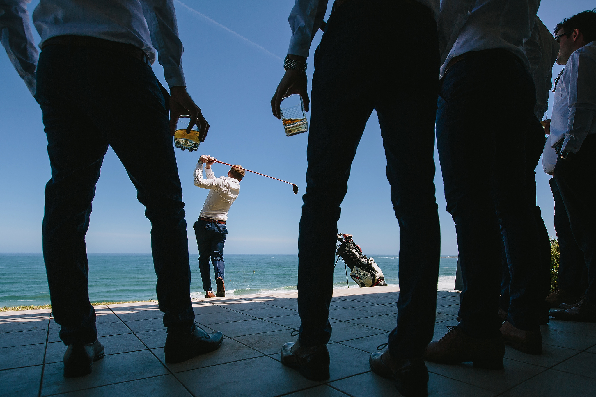 Creative composition golfing at the waterfront - photo by Ruan Redelinghuys Photography