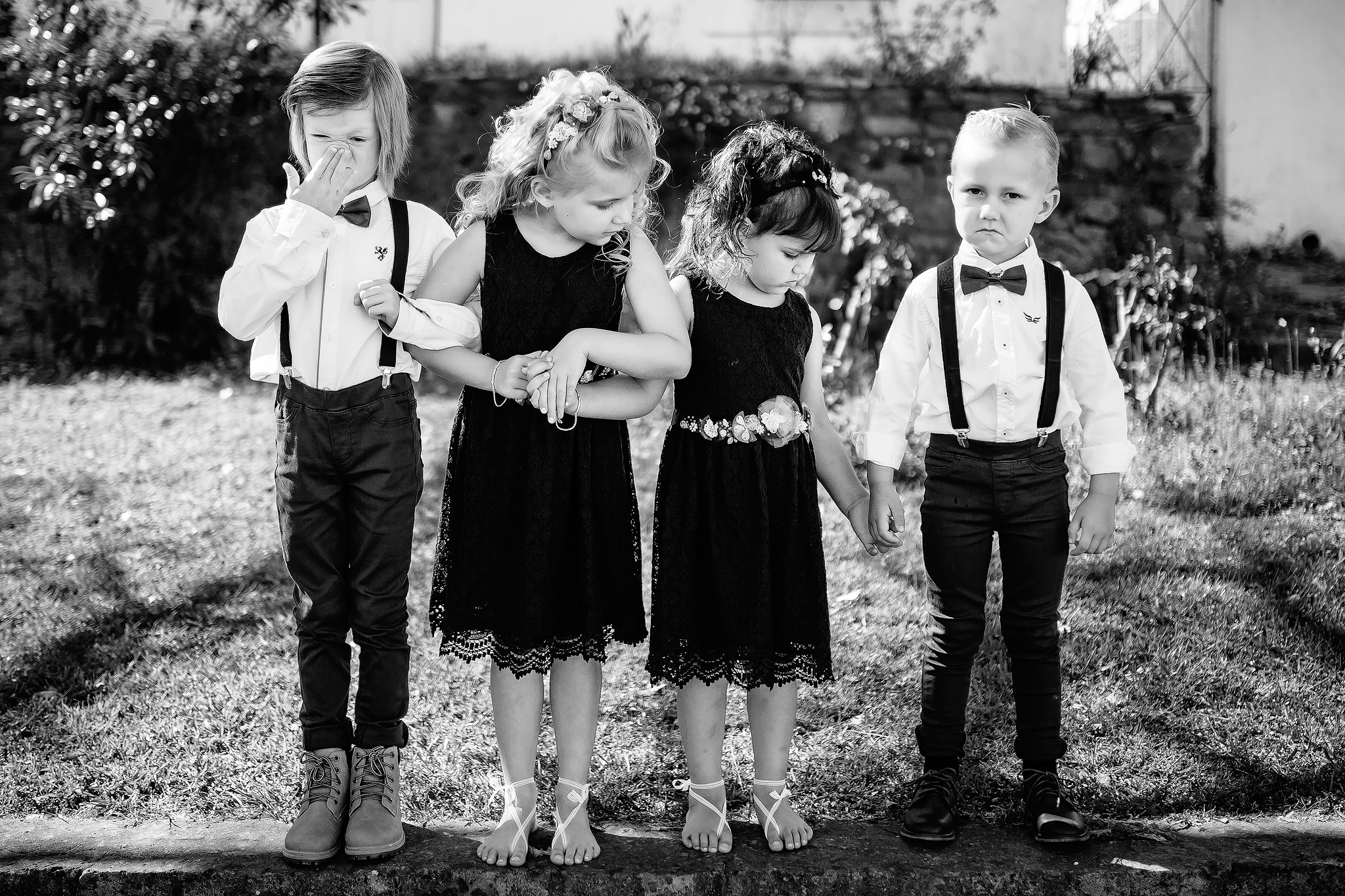 Four kids all dressed up - photo by Ruan Redelinghuys Photography