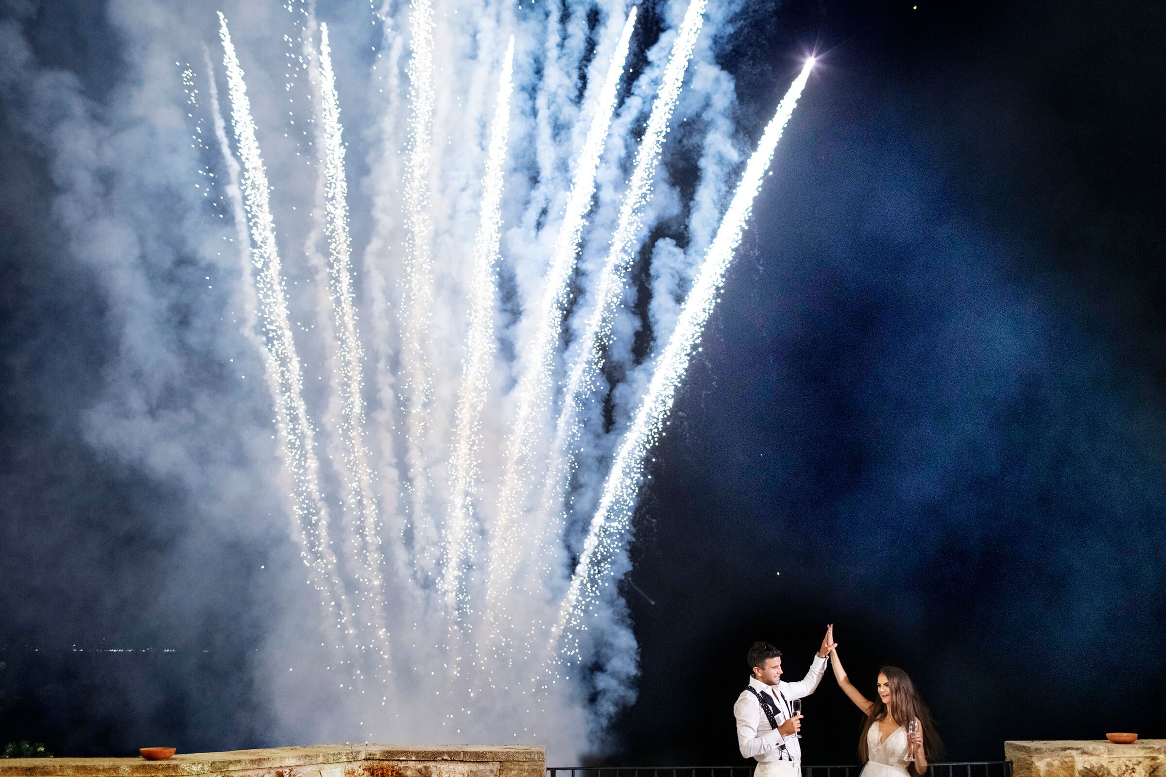 Fireworks for the couple in sicily- photo by Nino Lombardo Photographer