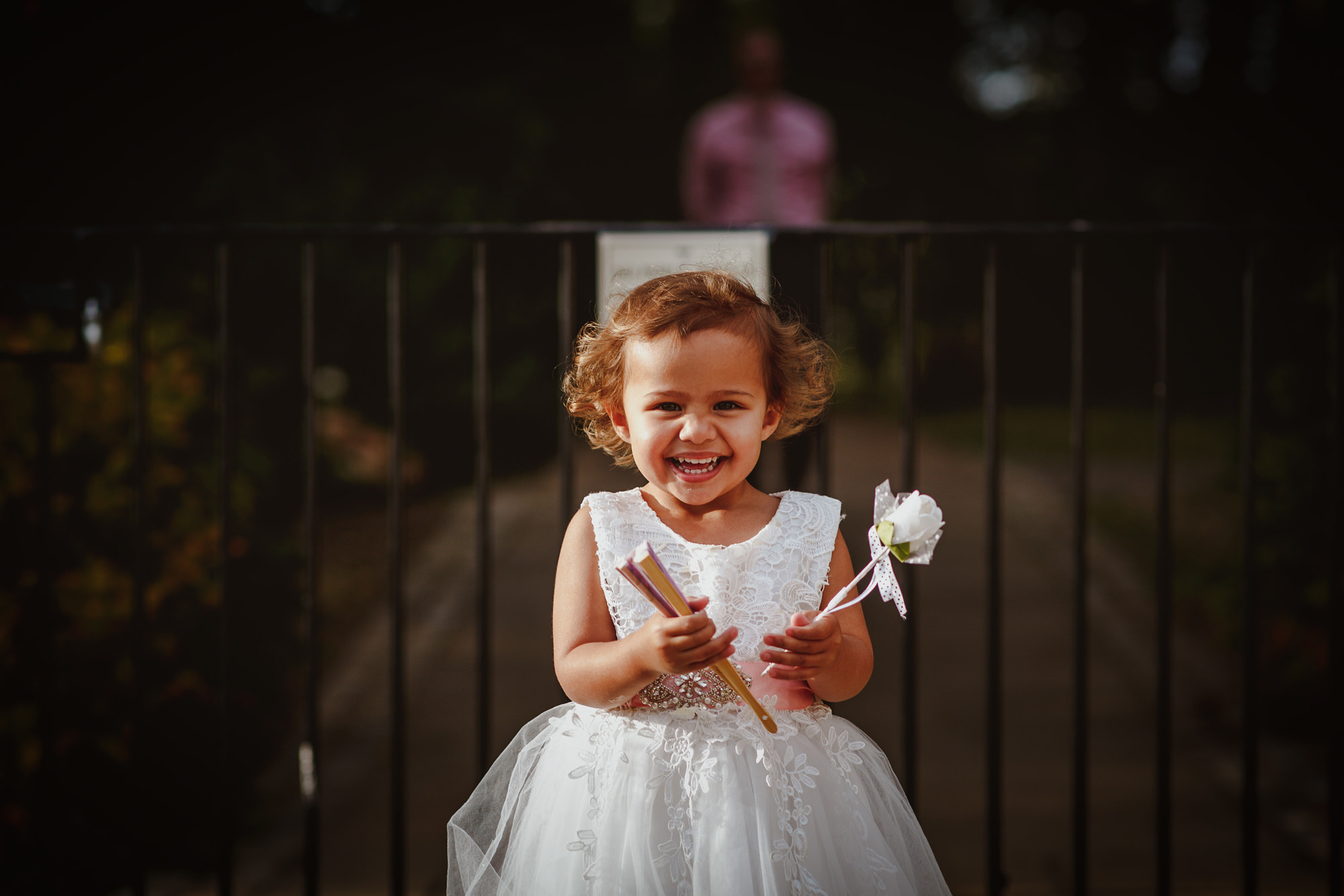Cute smiling flower girl - photo by Tomas Juskaitis Photography
