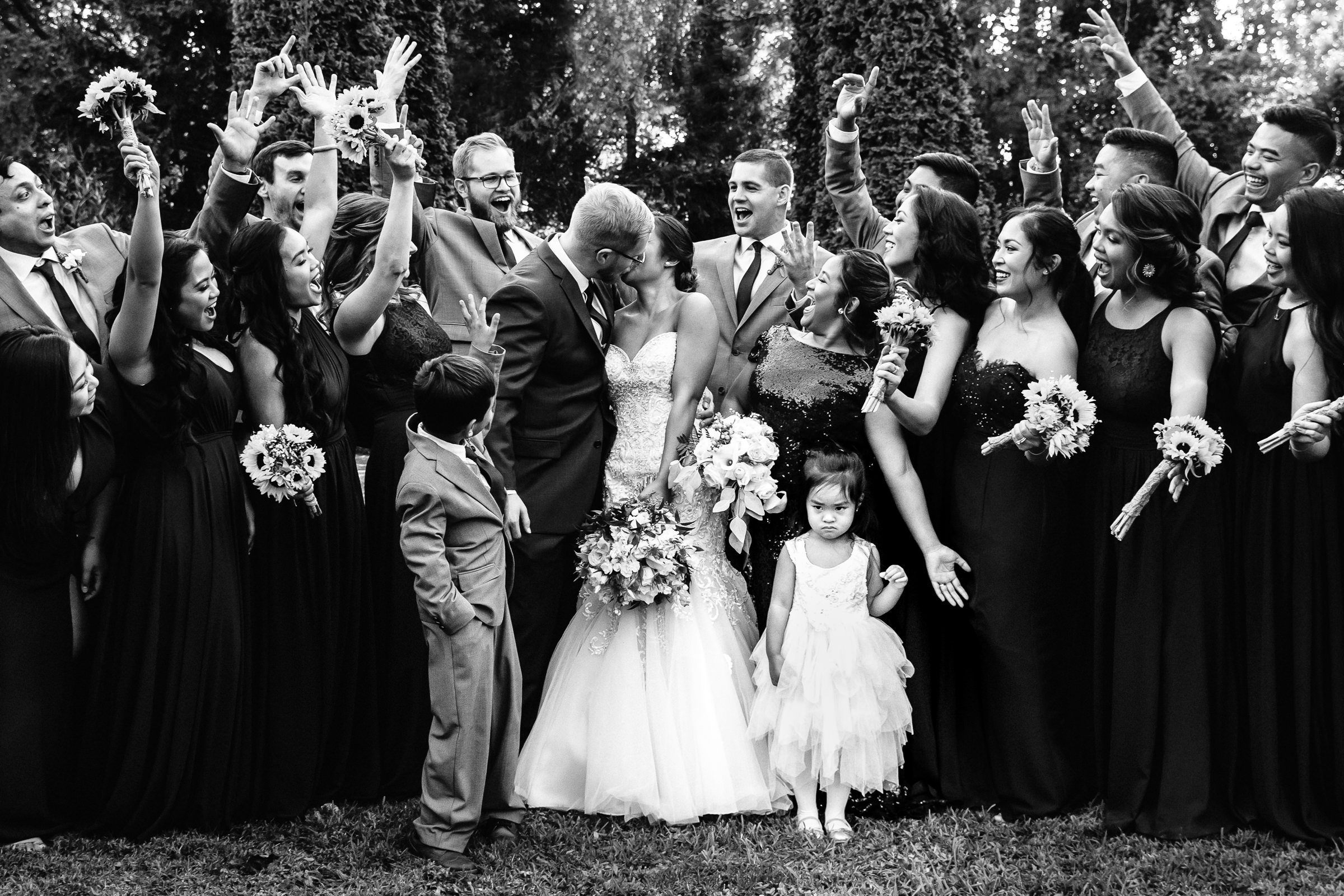 Hands in the air for couple kiss - photo by Xiaoqi Li Photography