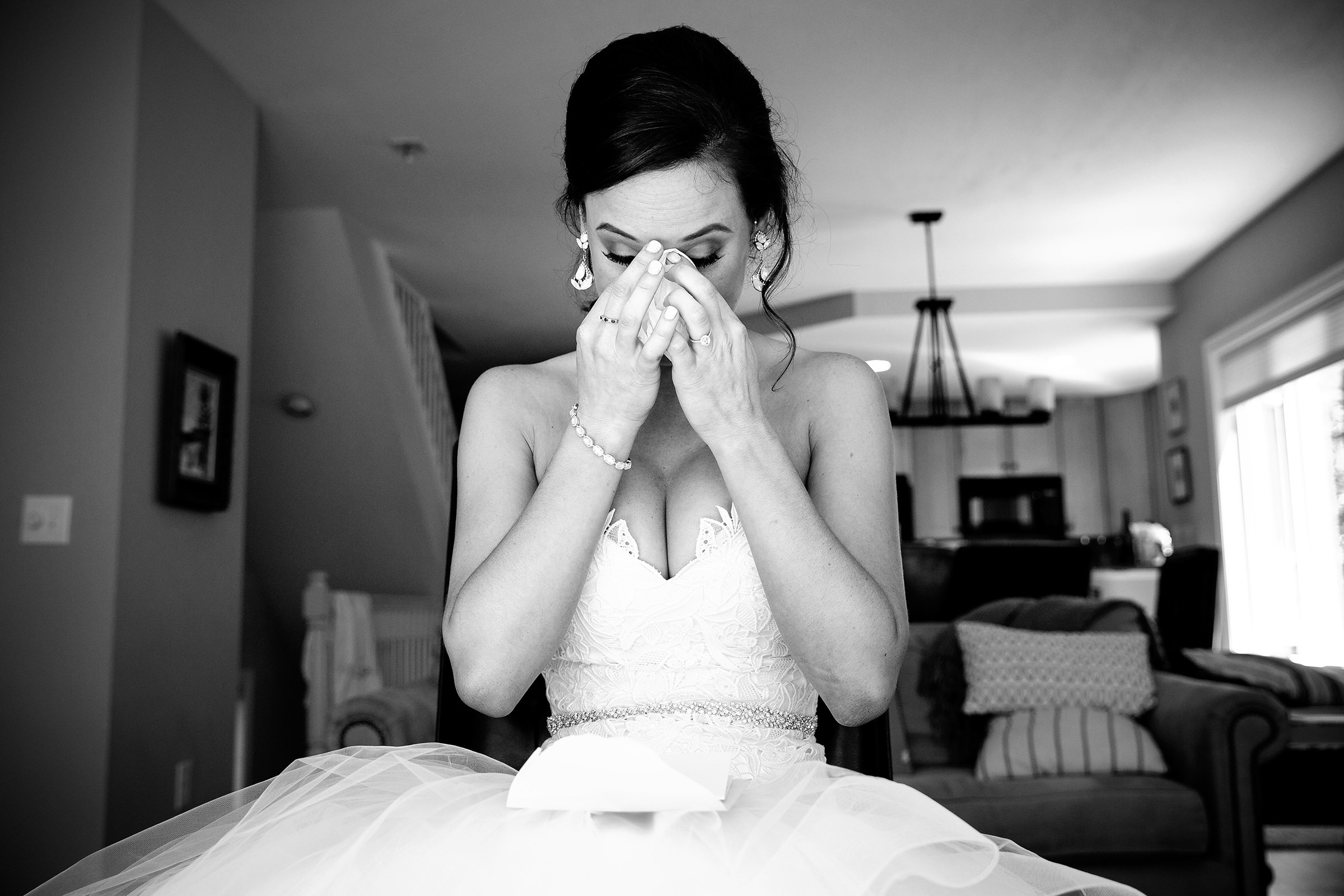 Bride in an emotional moment - photo by Rayan Anastor Photography
