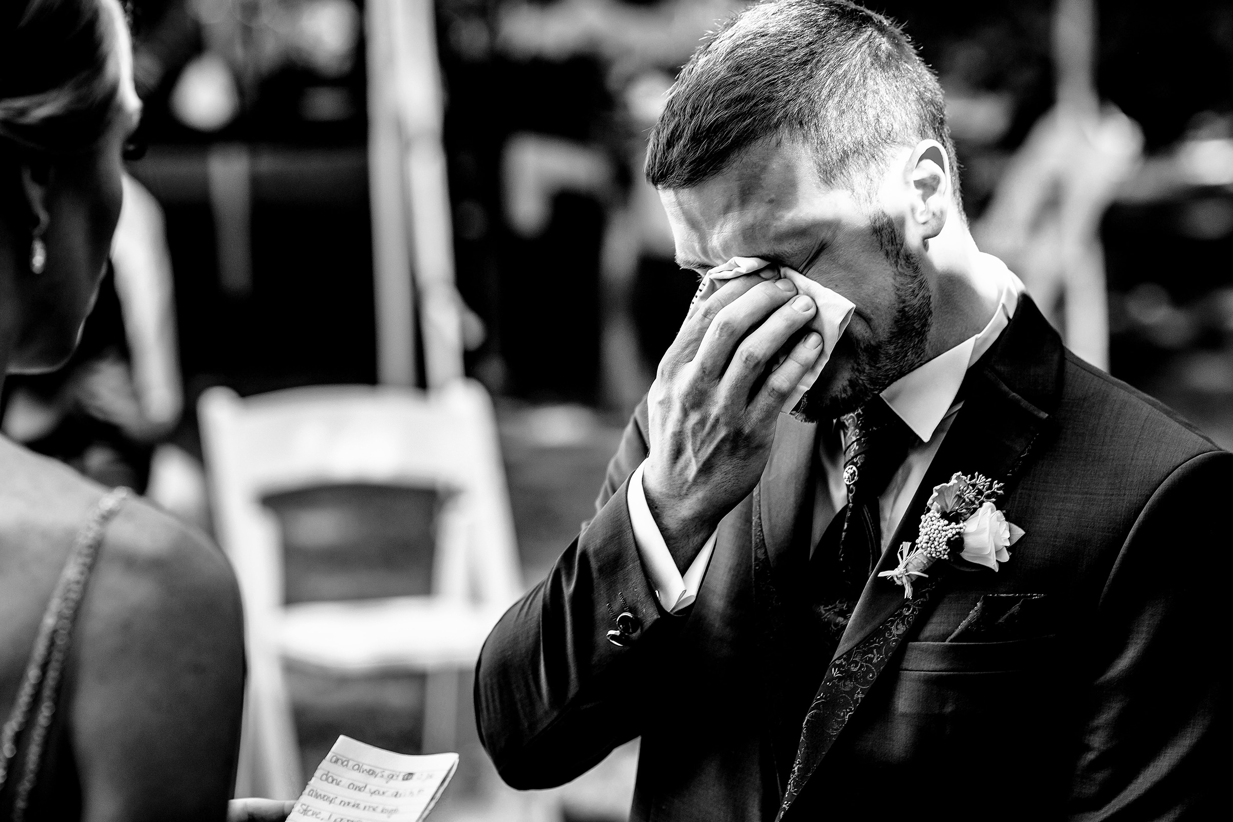 Tearful groom - photo by Rayan Anastor Photography