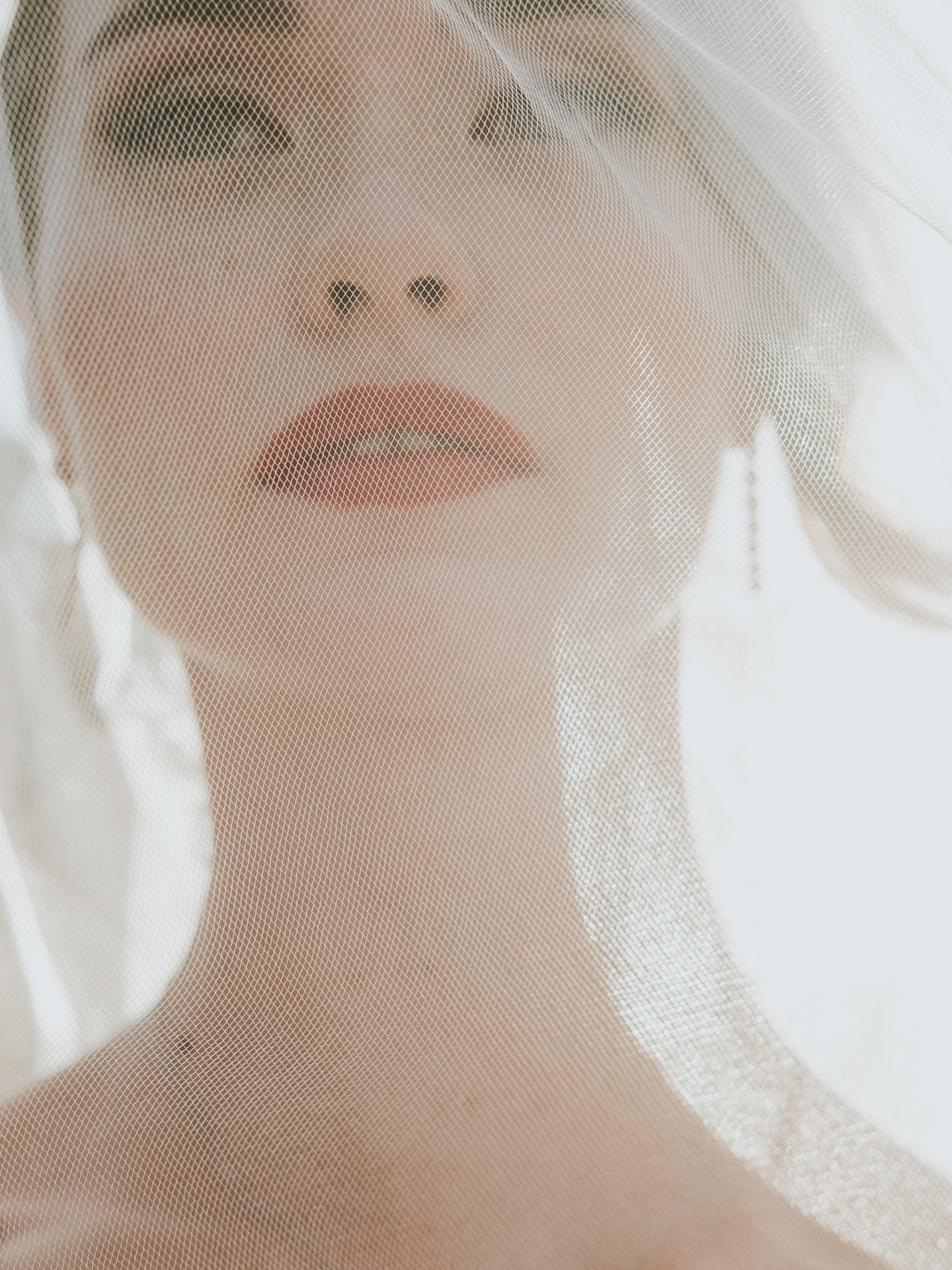 Closeup of bride's face - photo by