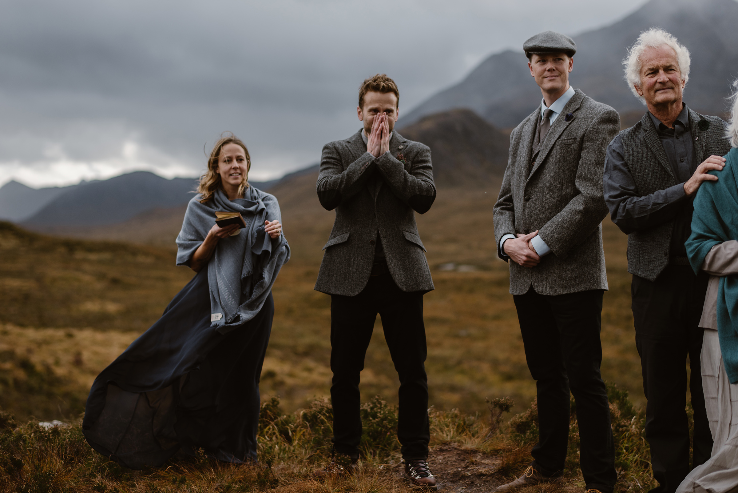 Elopement party in the mountains - photo by Virginia & Evan