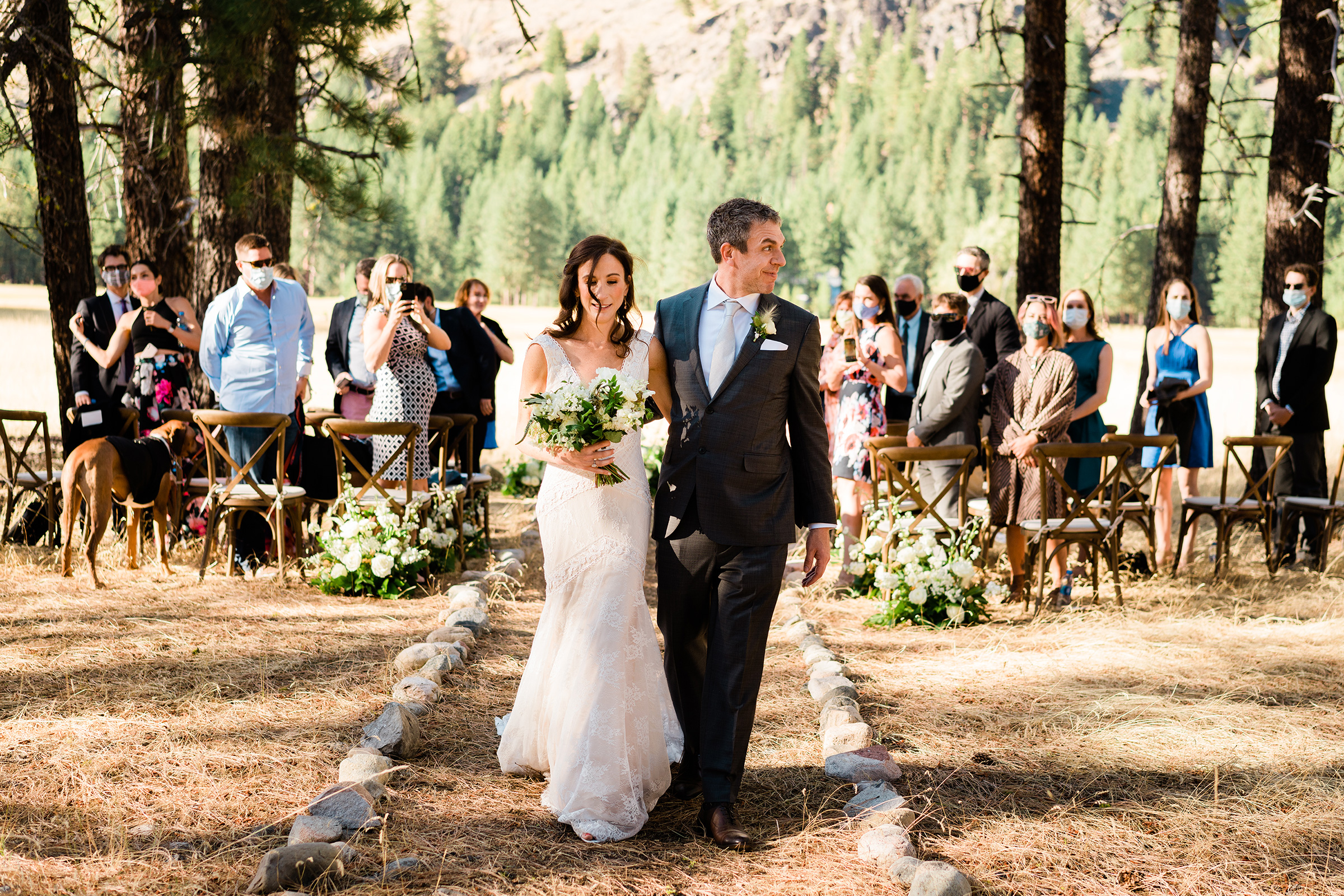 Outdoor recessional - photo by Bradley Hanson Photography