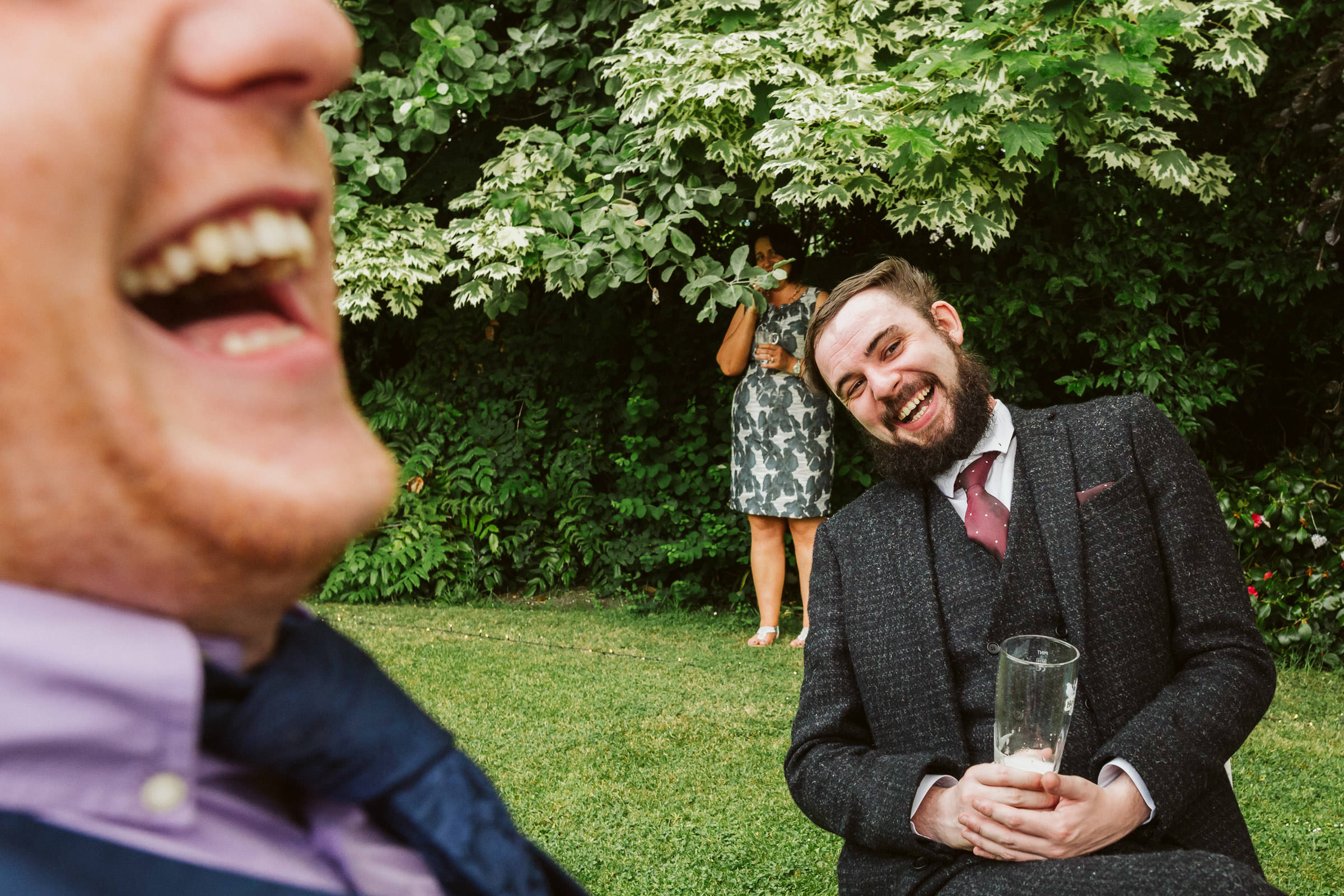 Laughter in the garden - photo by Lima Conlon Photography