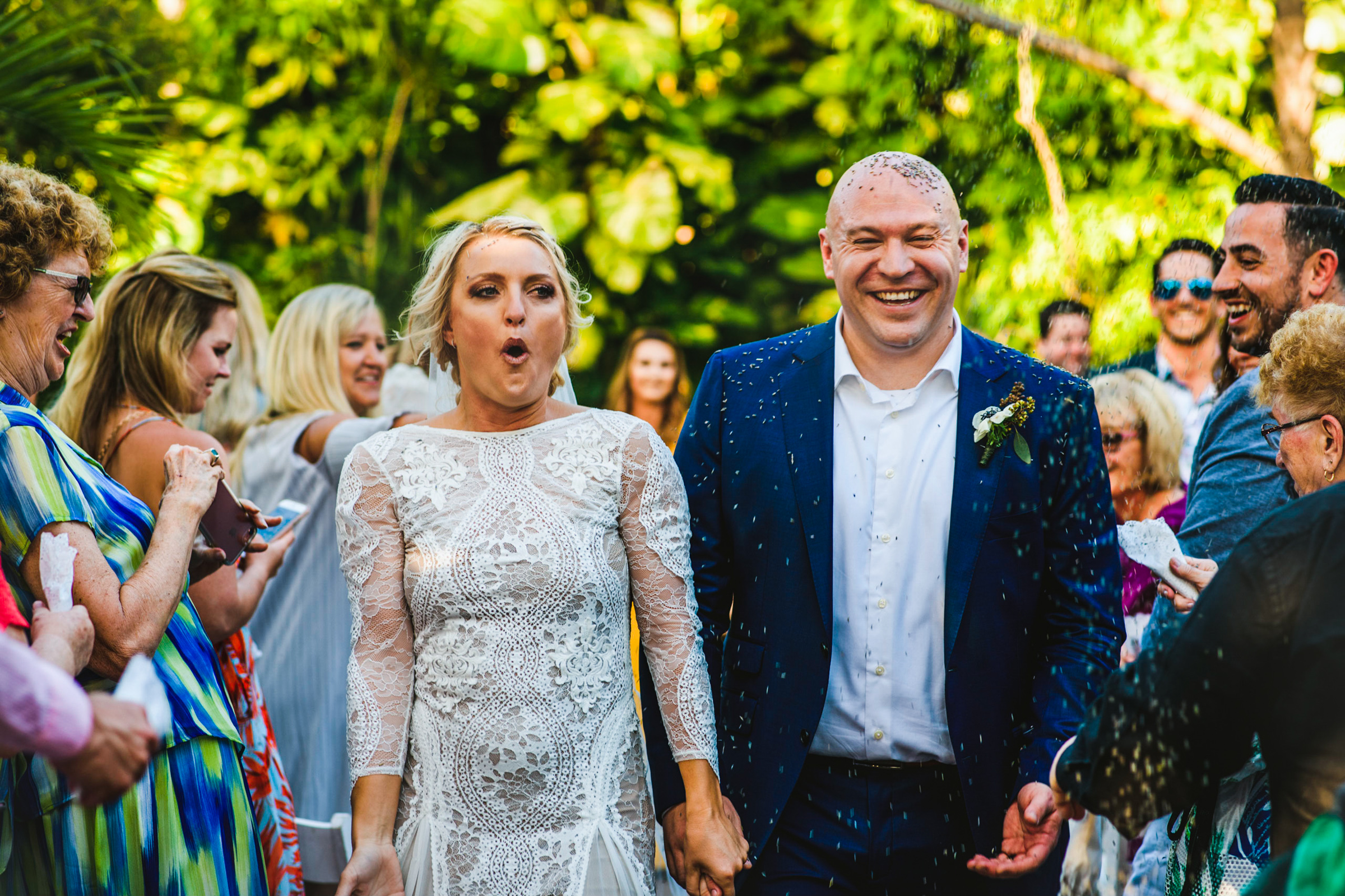 Cheery recessional - photo by Michael Freas Photography