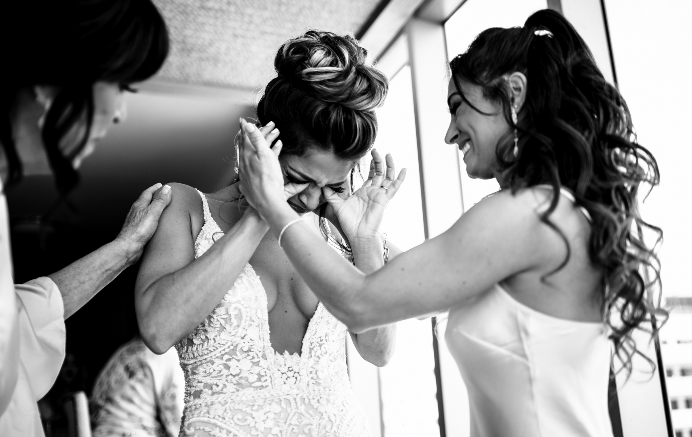 Tearful bride - photo by Michael Freas Photography