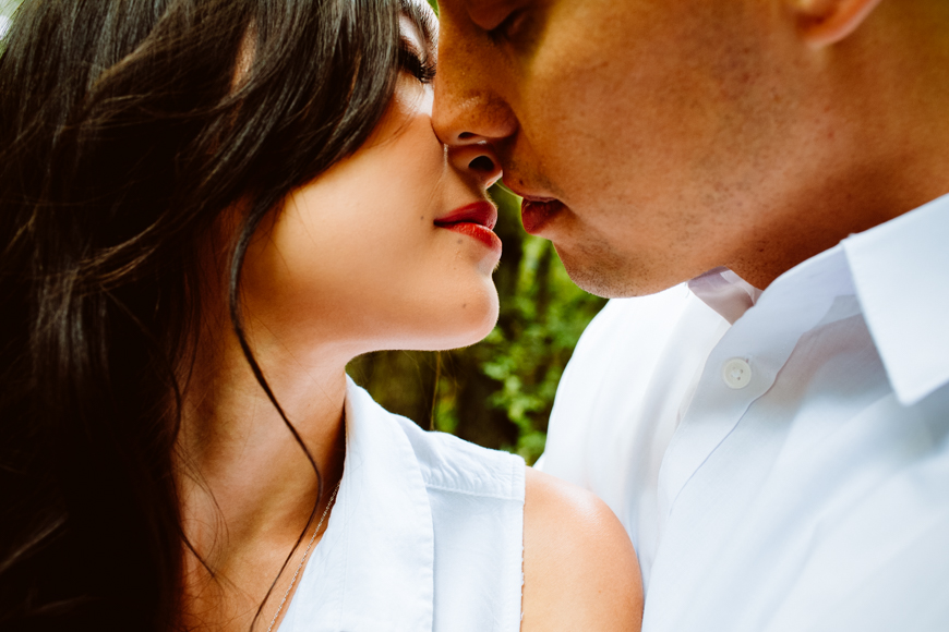 About to kiss closeup - photo by Jessica Hill Photography