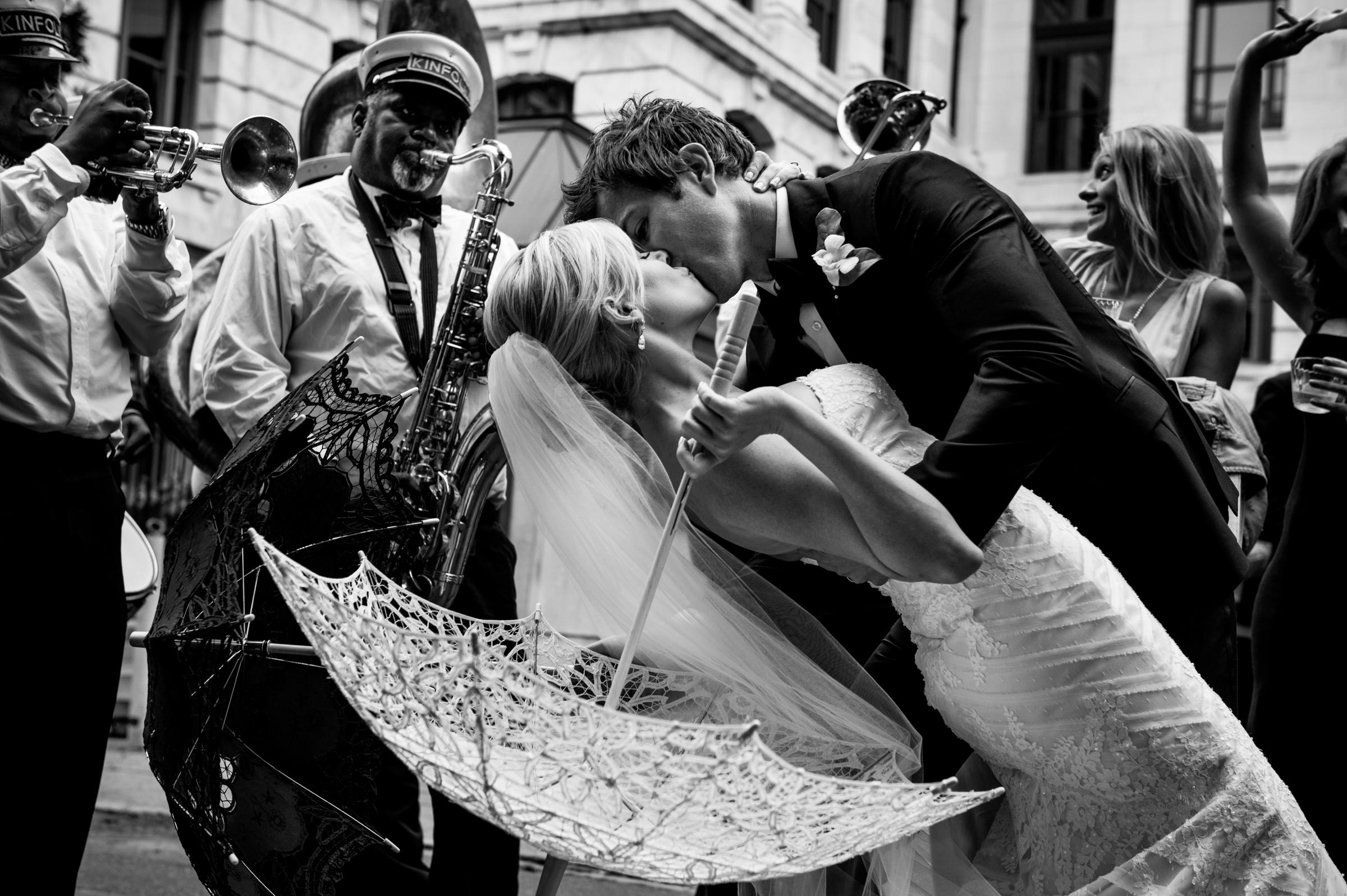 Dipping and kissing - photo by Morgan Lynn Photography