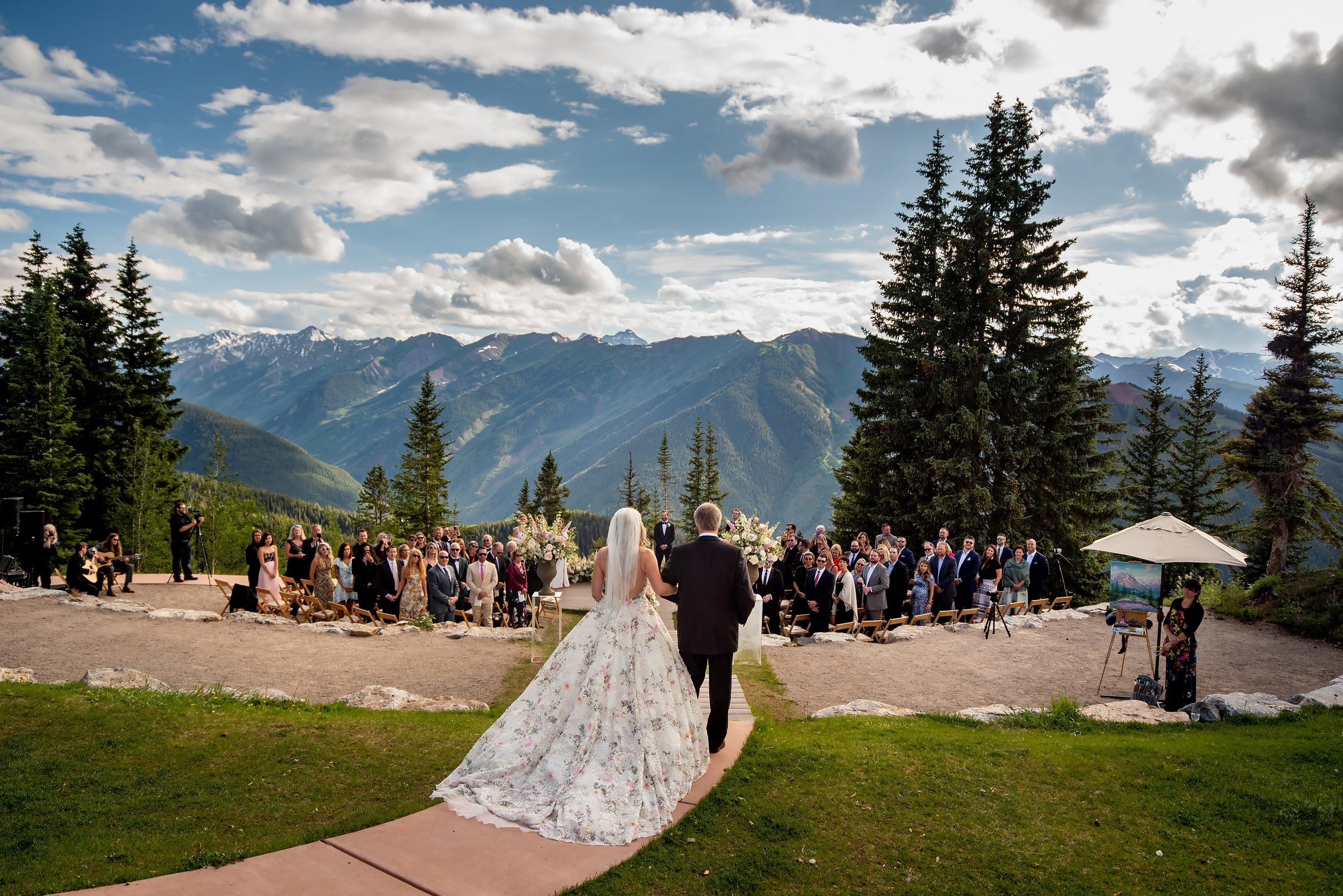 Mountain wedding ceremony - photo by Morgan Lynn Photography
