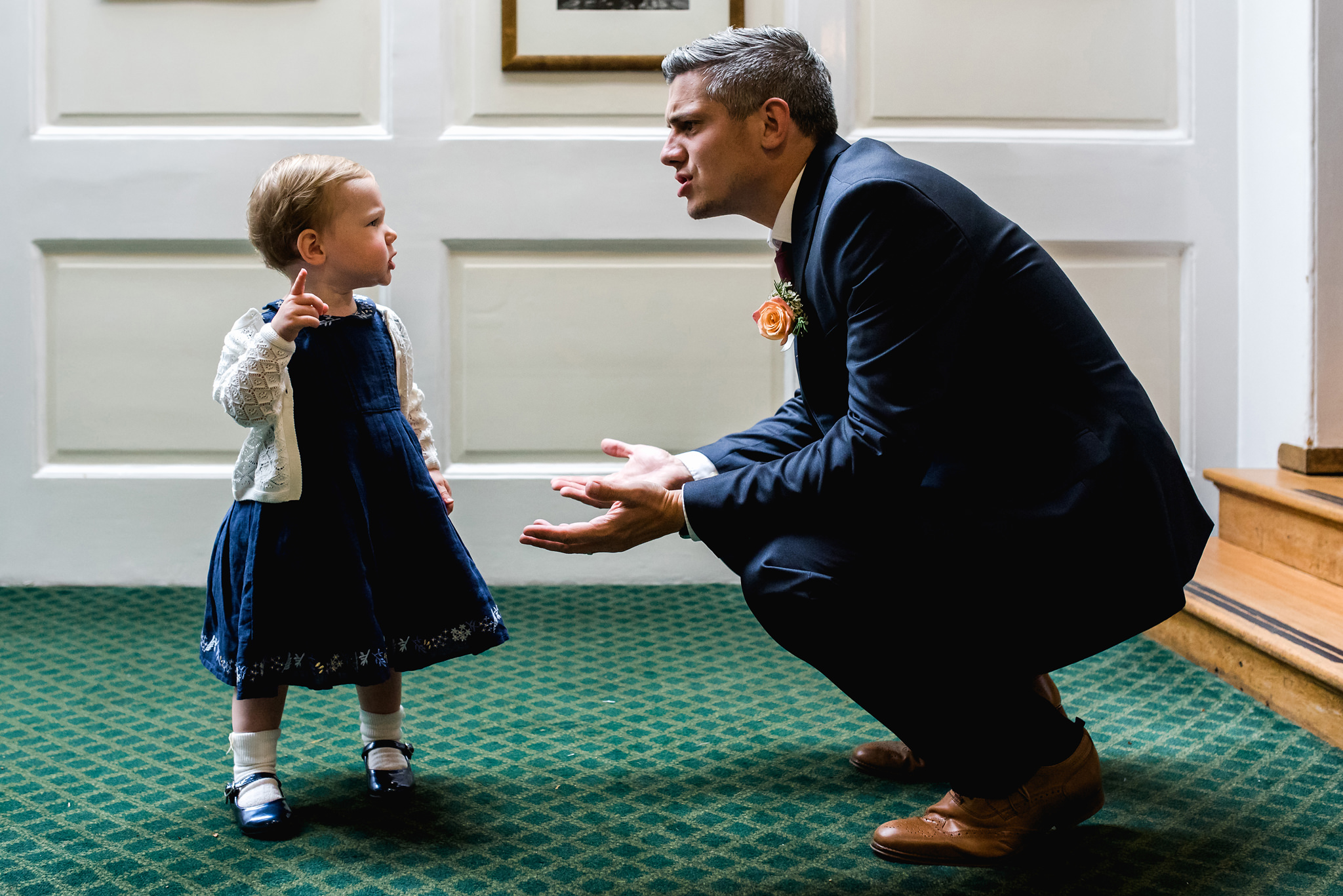 Daddy debates with toddler - photo by Rich Howman