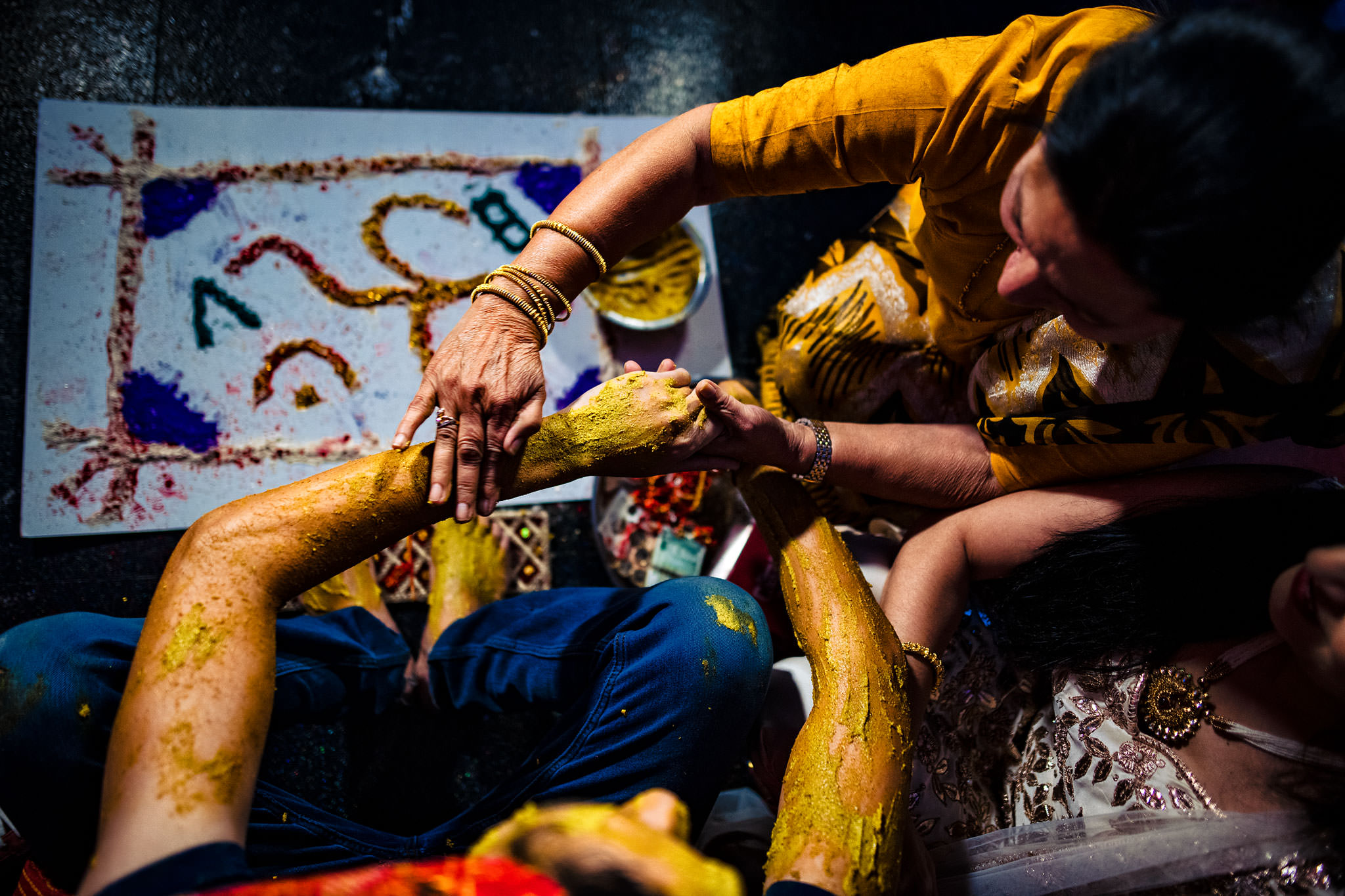 Haldi turmeric ceremony - photo by Rich Howman