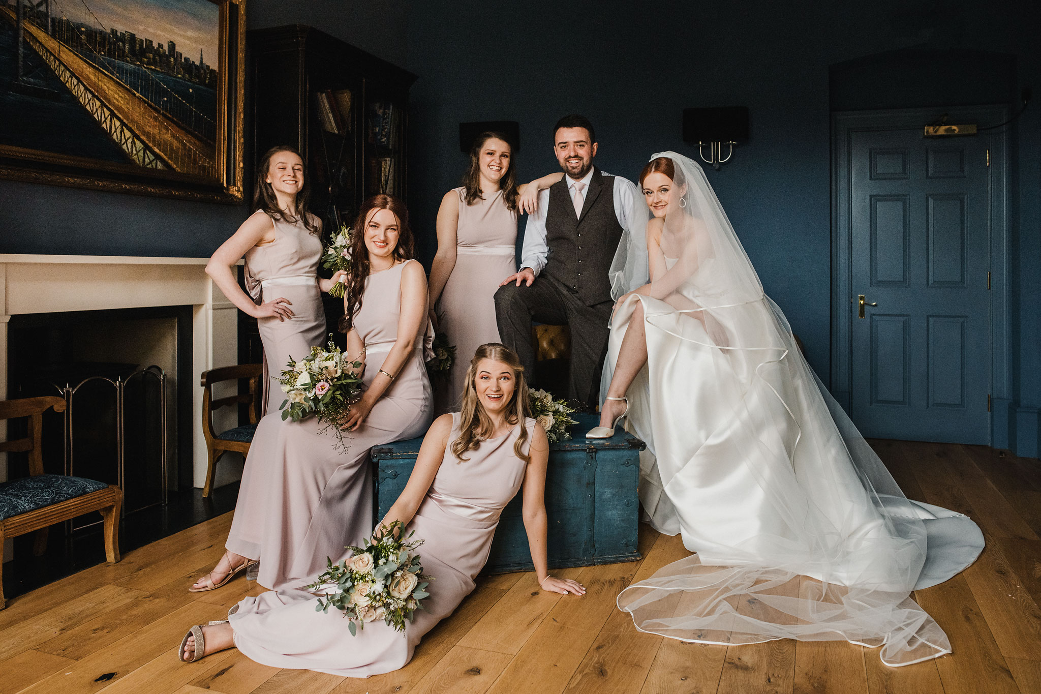 Couple with bridal party - photo by Rich Howman