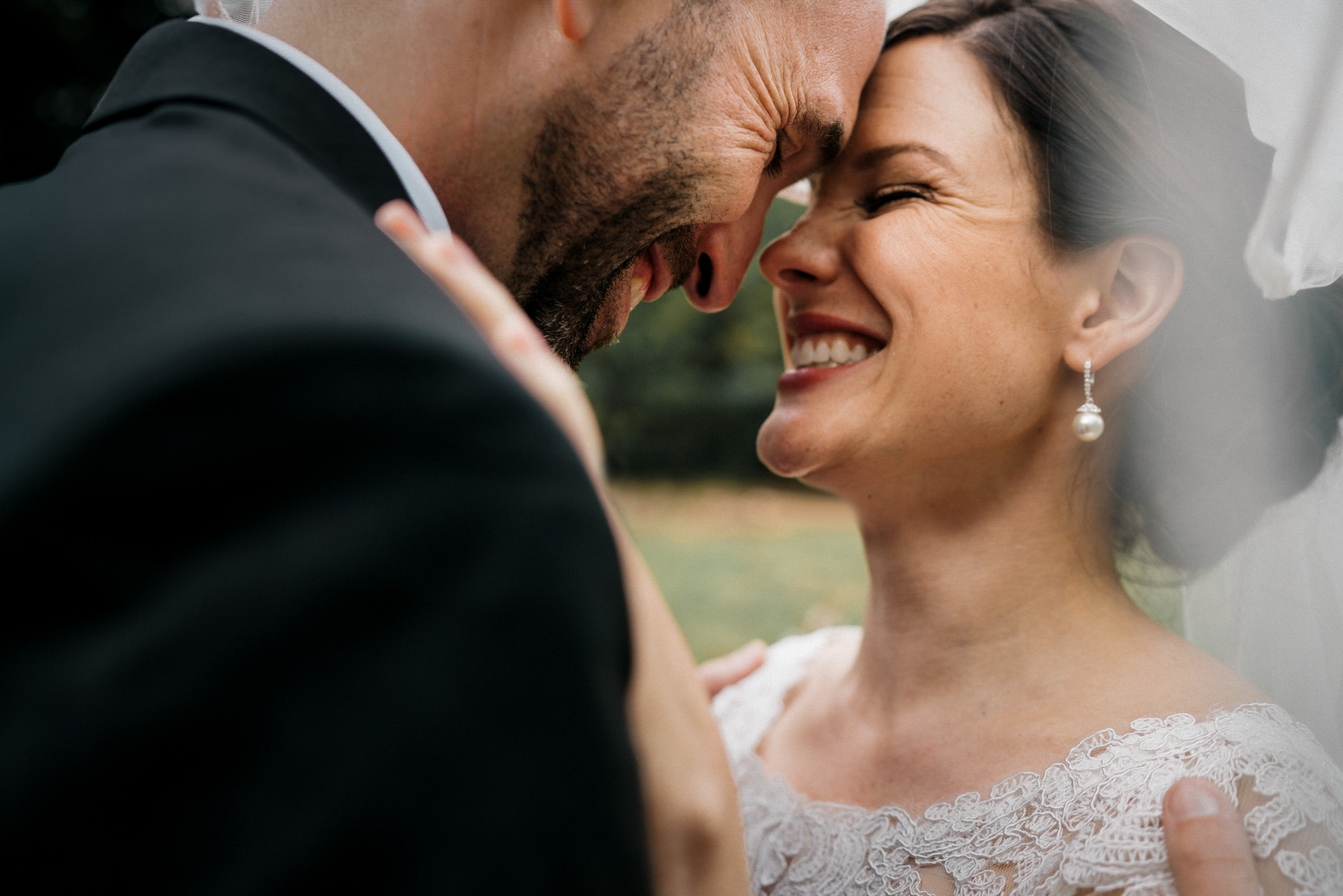Bride and groom face to face moment - photo by Sasha Reiko Photography