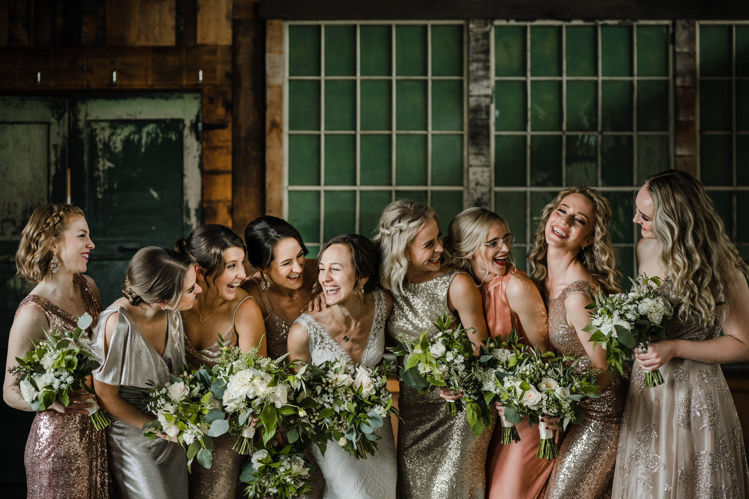 Bridesmaids hamming it up - photo by Sasha Reiko Photography