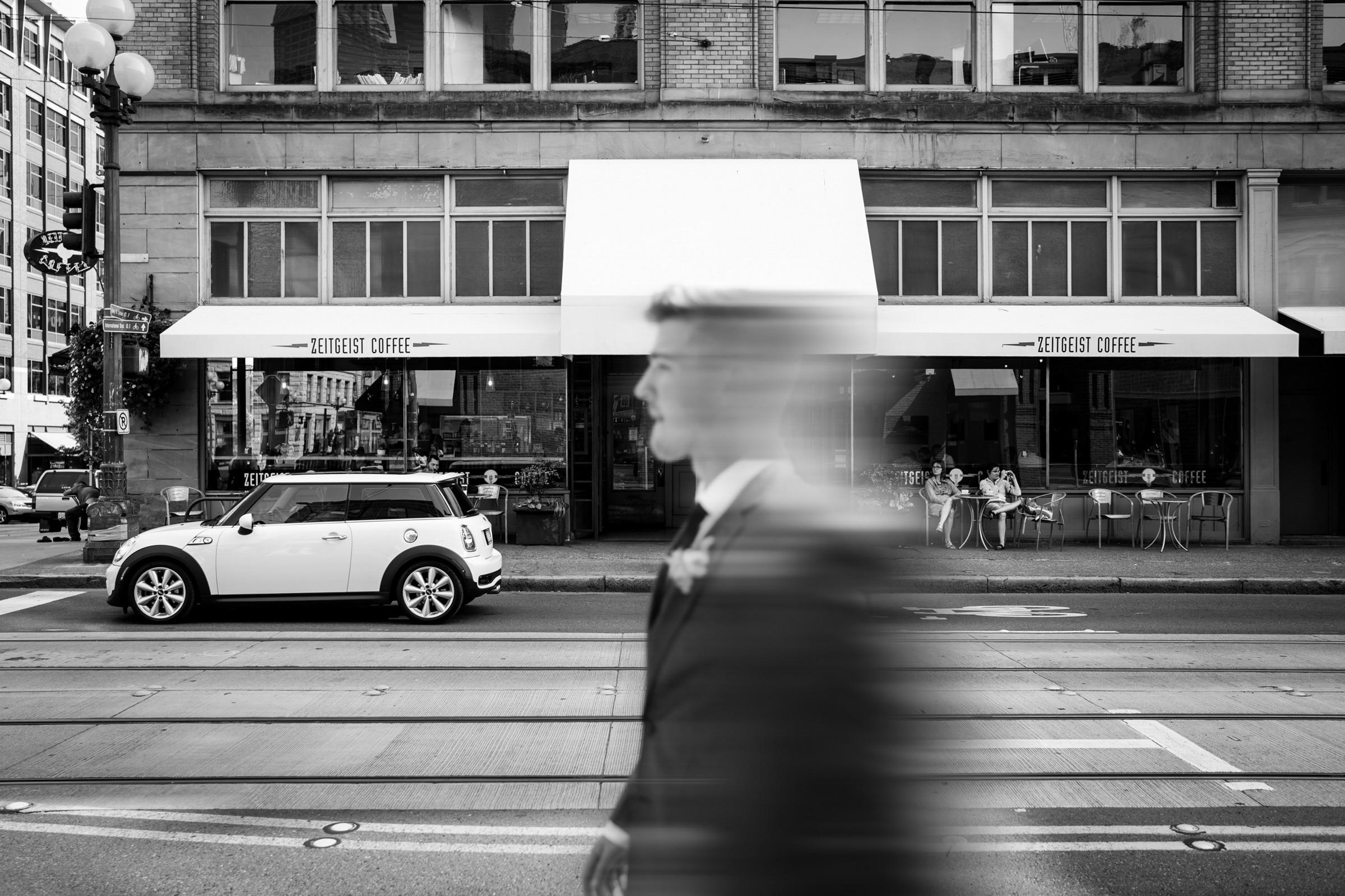 Groom walking - photo by Sasha Reiko Photography
