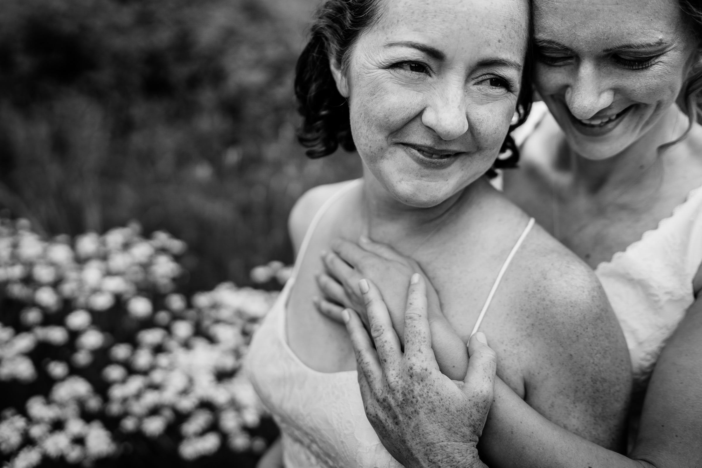 Sweet portrait of brides - photo by Sasha Reiko Photography