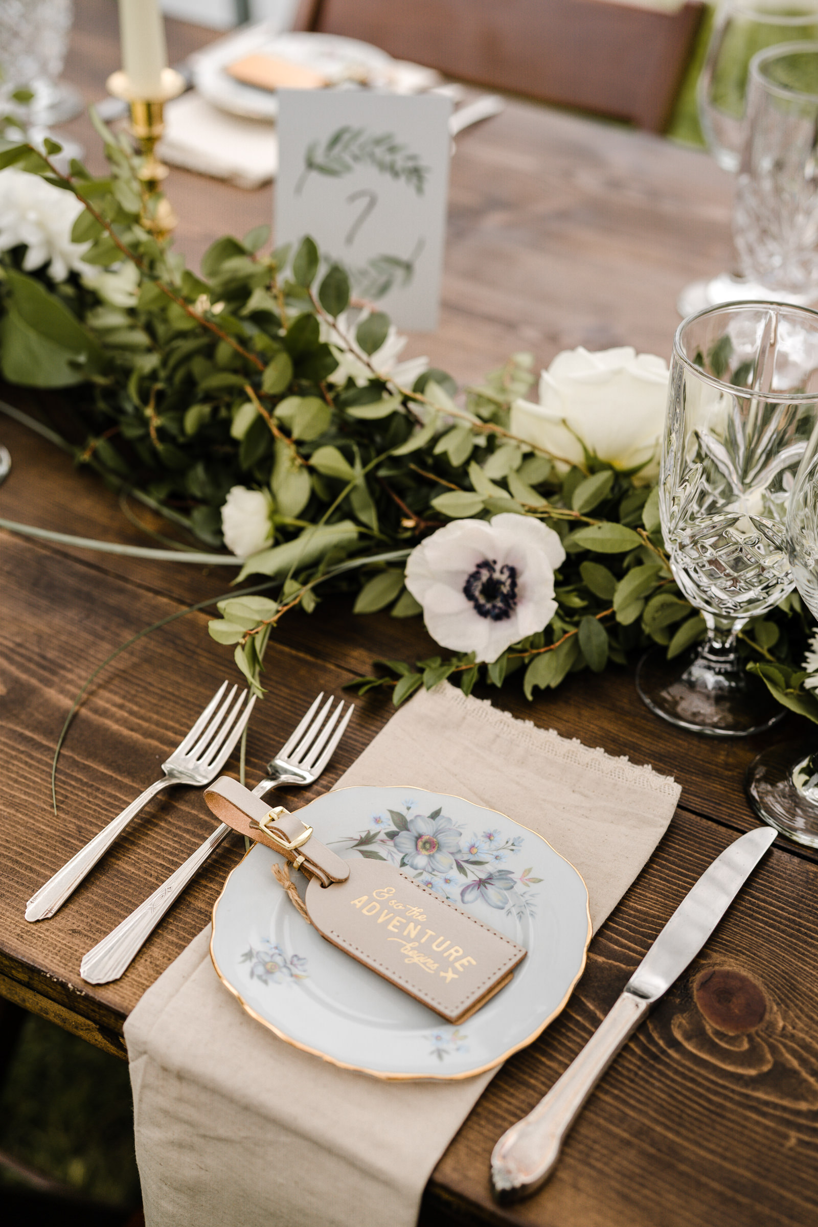 Table placesetting detail- photo by Sasha Reiko Photography