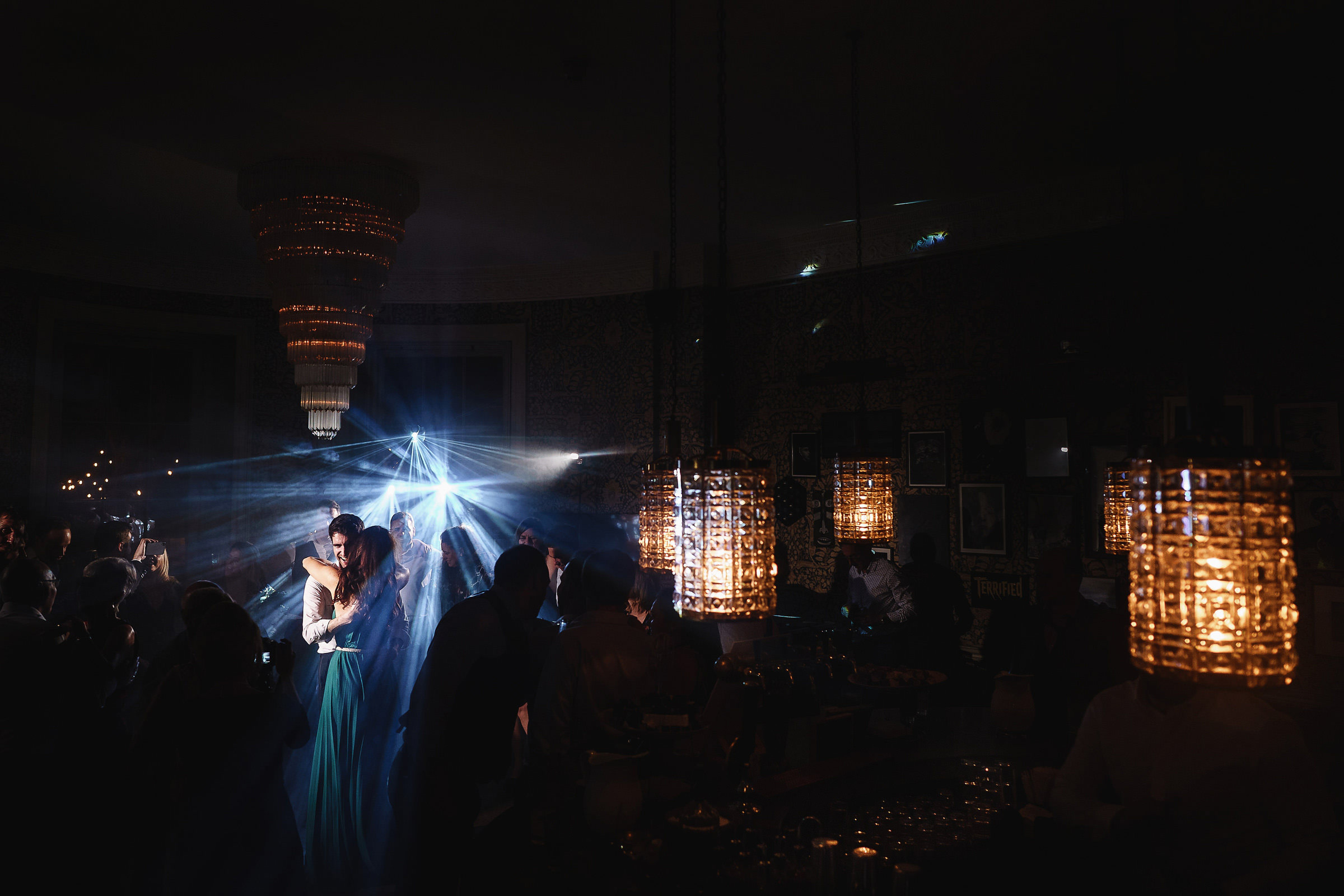 Babbington House lighted dance floor - photo by Andy Gaines Photography
