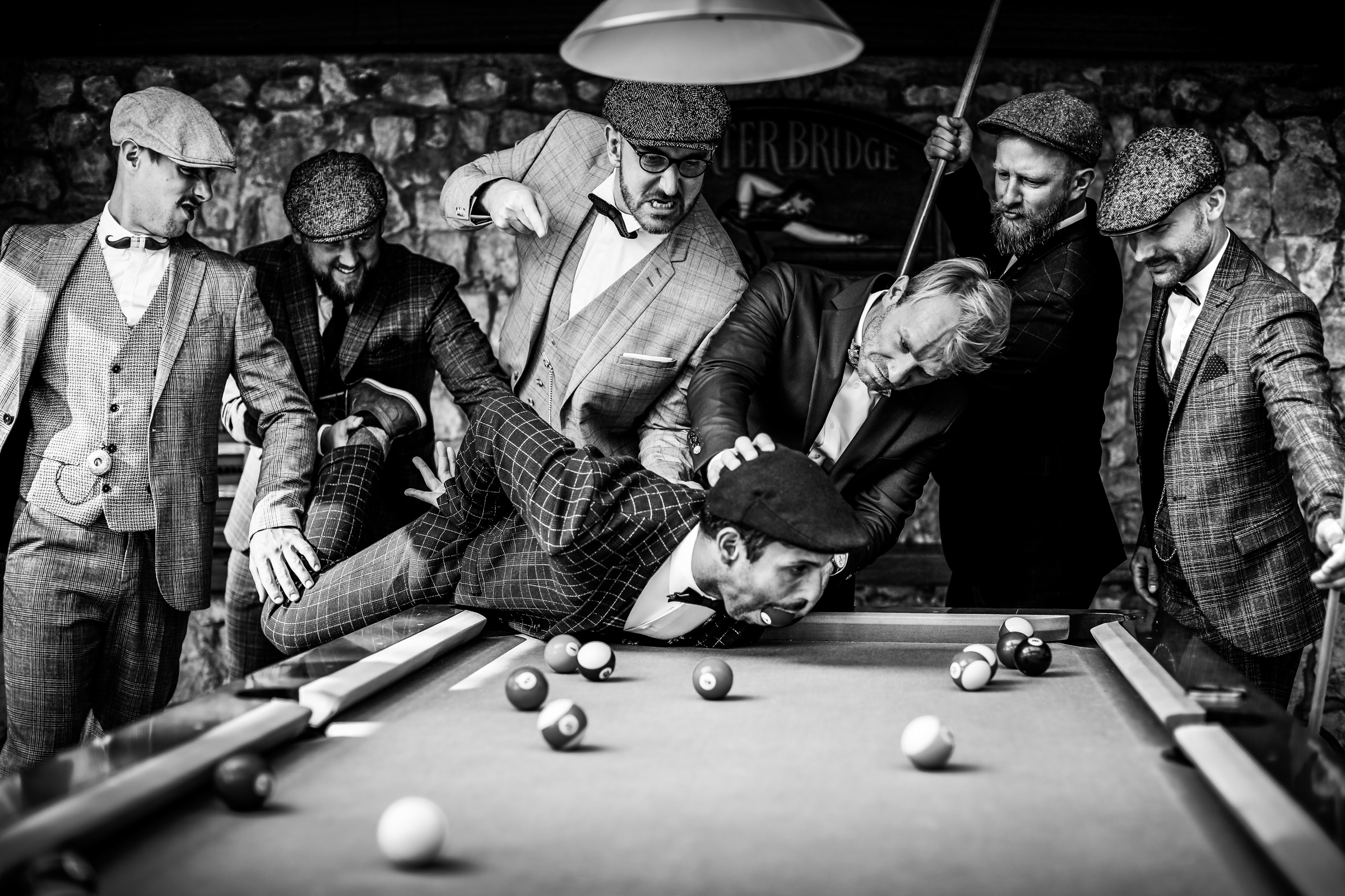 Playful pool game - photo by Julien Laurent-Georges