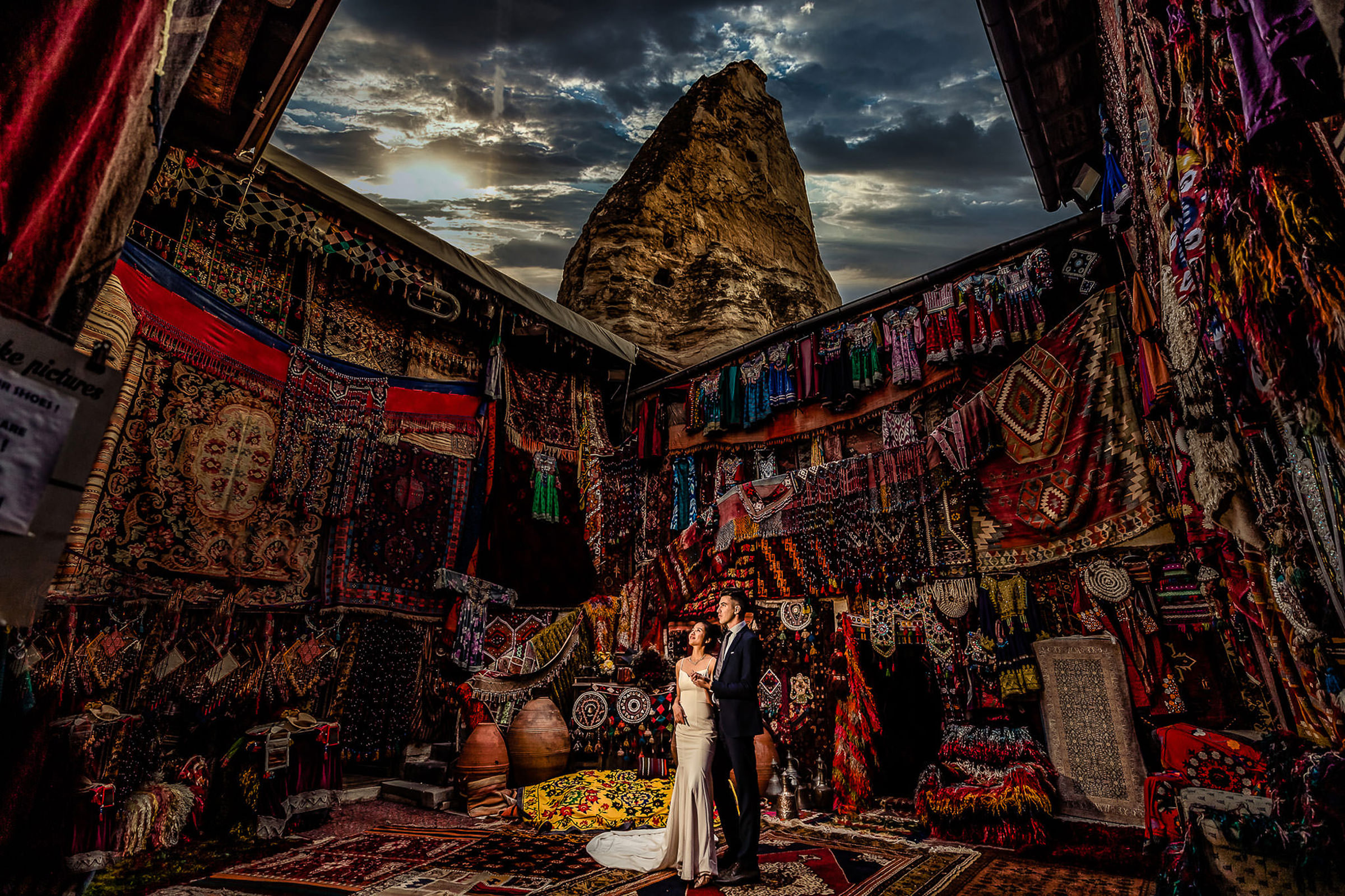 Couple standing in carpet store - photo by Eppel Photography