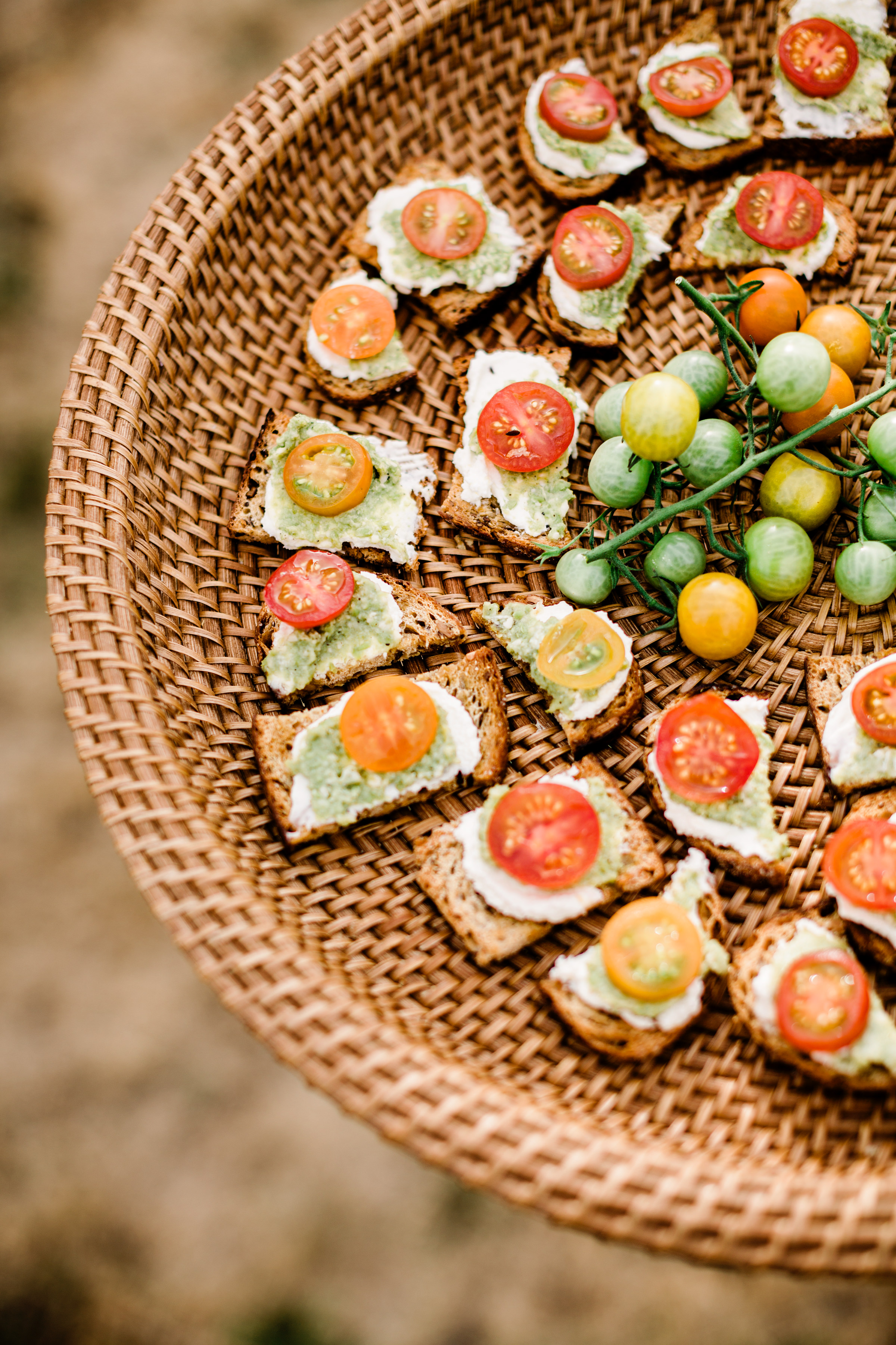 colorful canapes - photo by Alante Photography