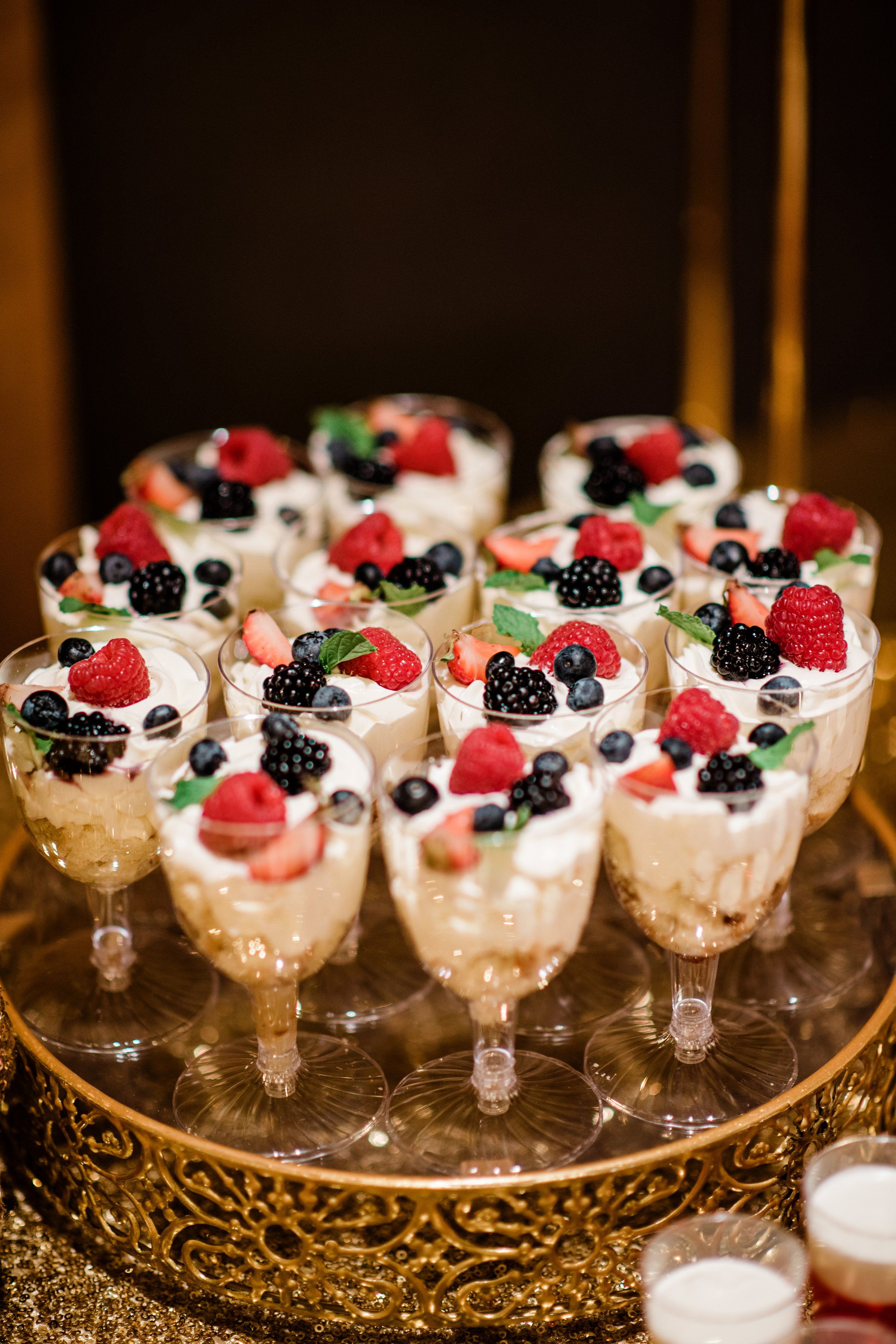 Parfaits on a tray - photo by Alante Photography
