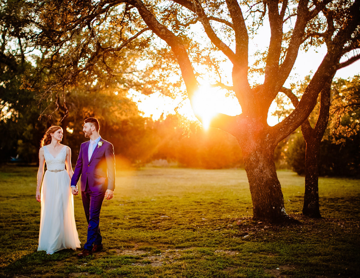 Couple in late afternoon sun - photo by AL Gawlik Photography