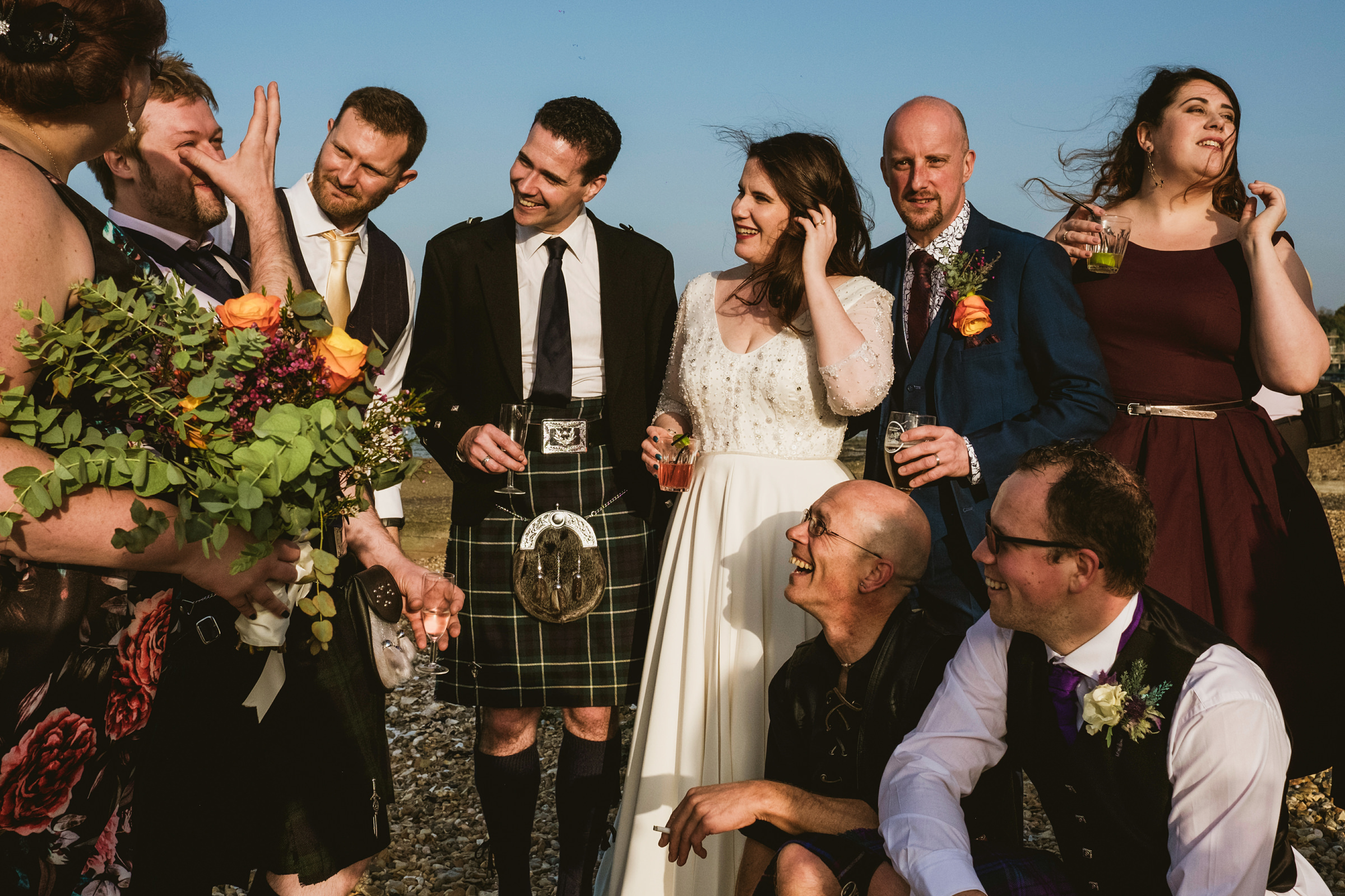 East Quay wedding storytelling moment - photo by York Place Studios