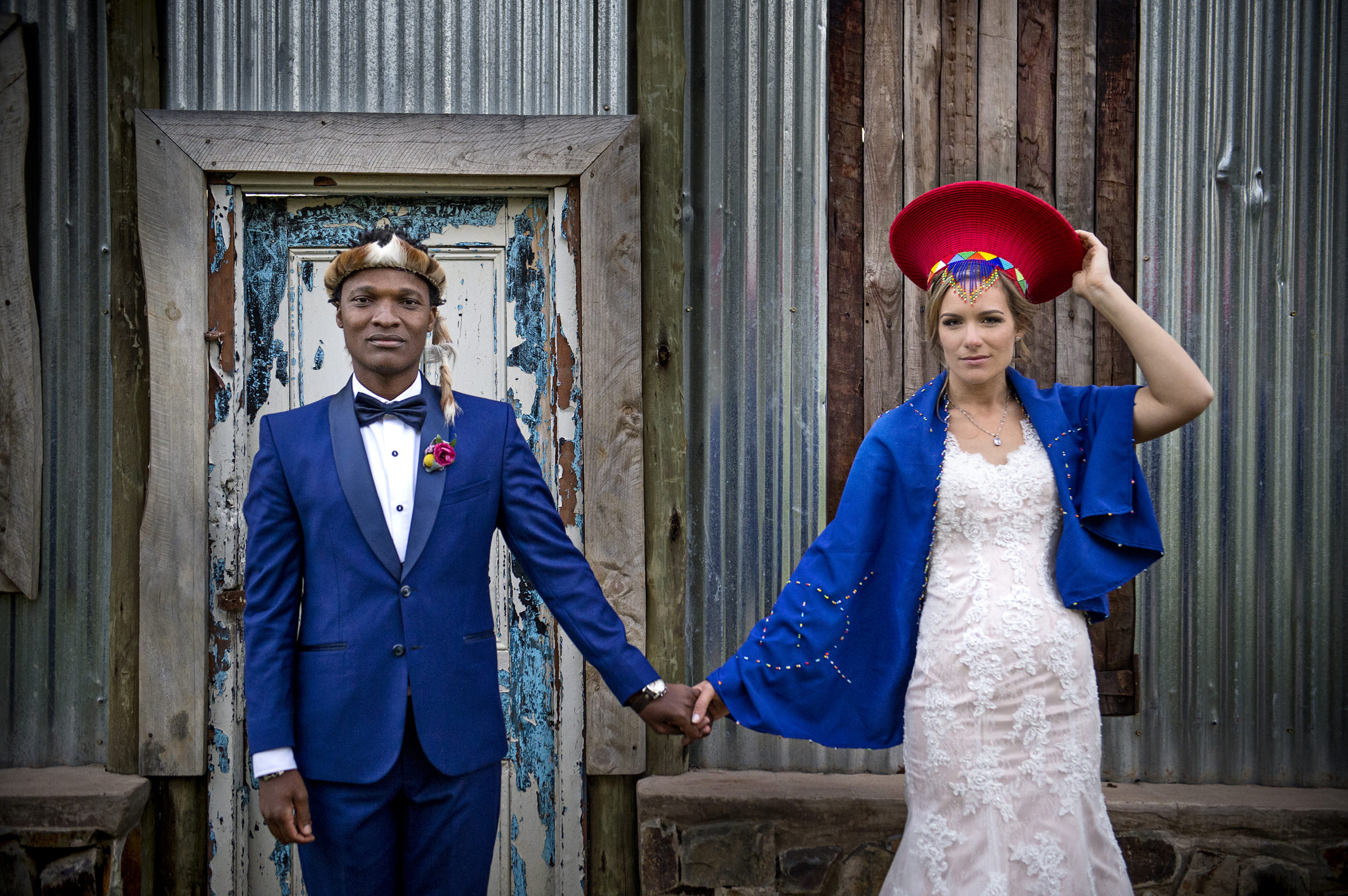 South African couple with hats - photo by Jacki Bruniquel