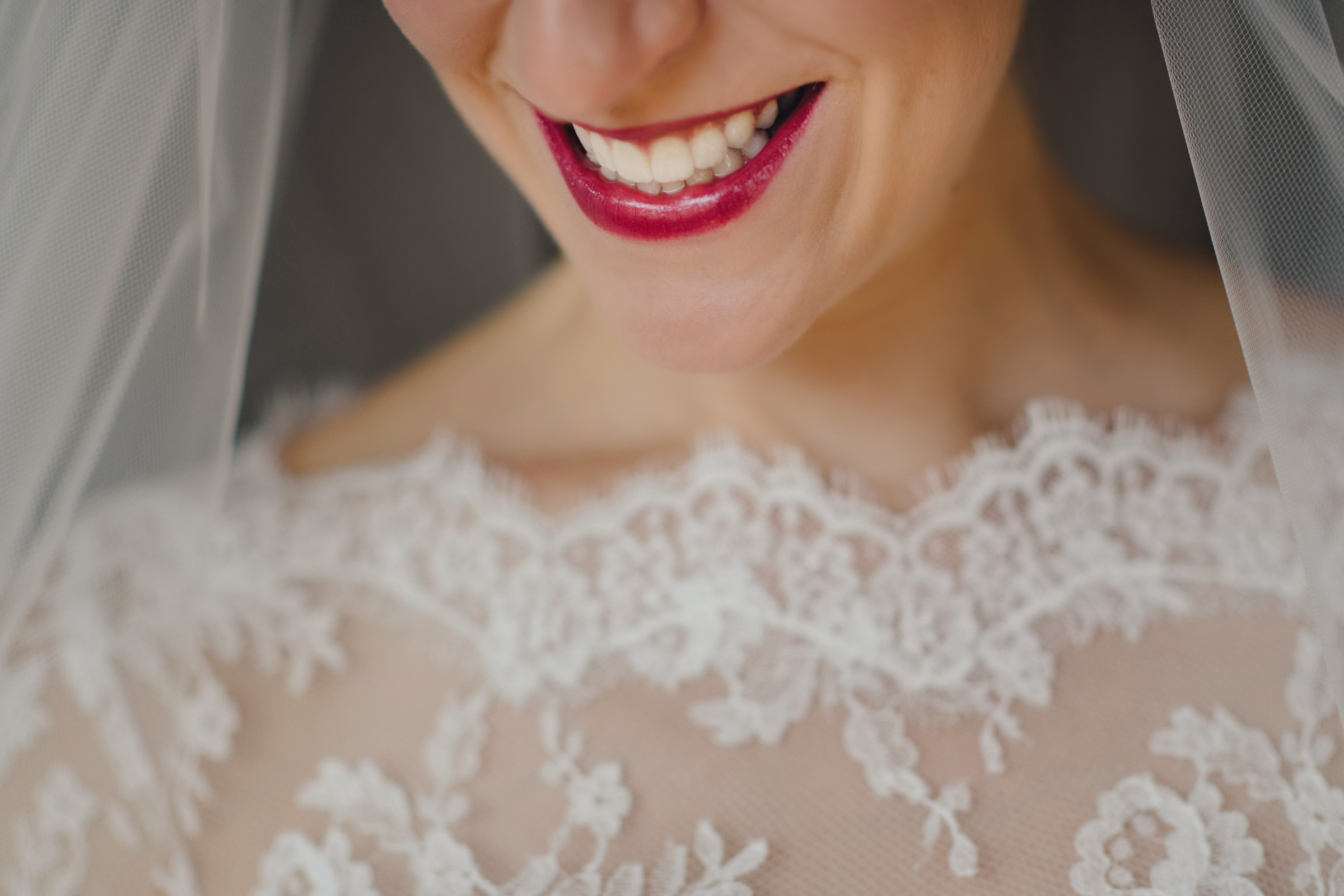 Detail of bridal gown lace  - photo by MIKI Studios