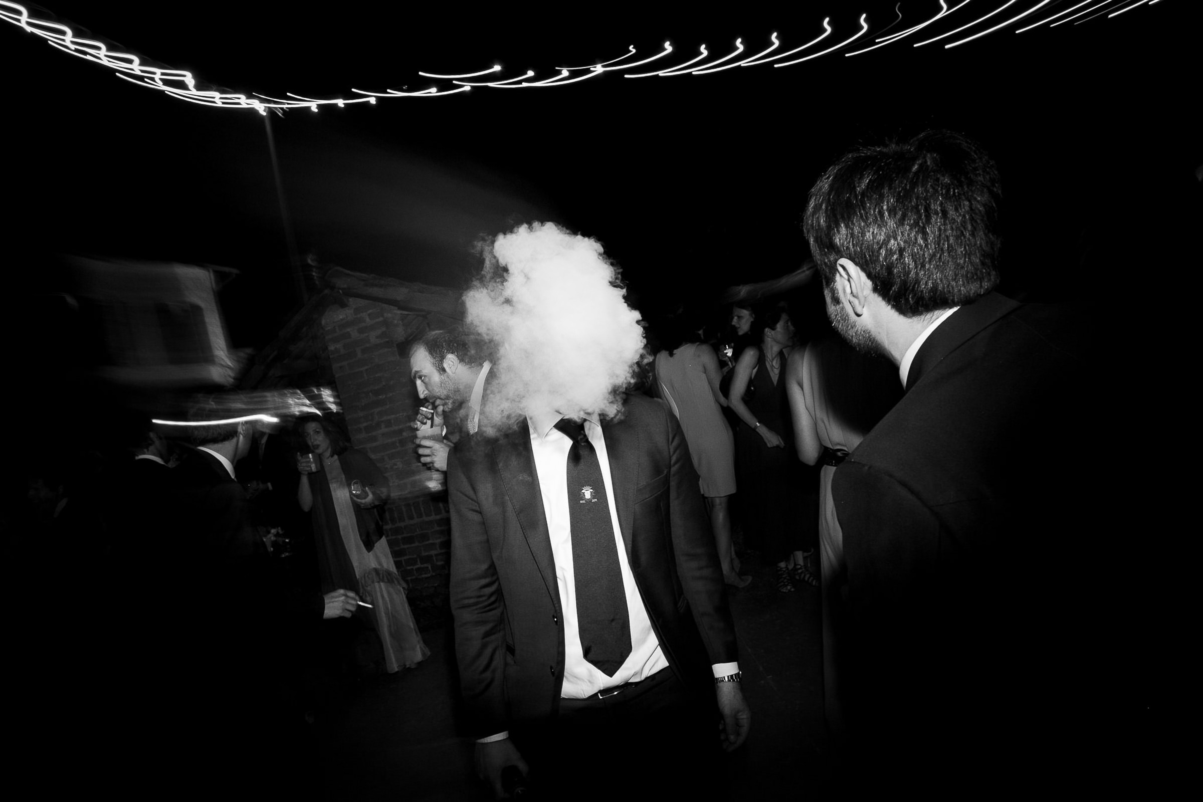 Guests head in a puff of smoke - photo by Julian Kanz Photography