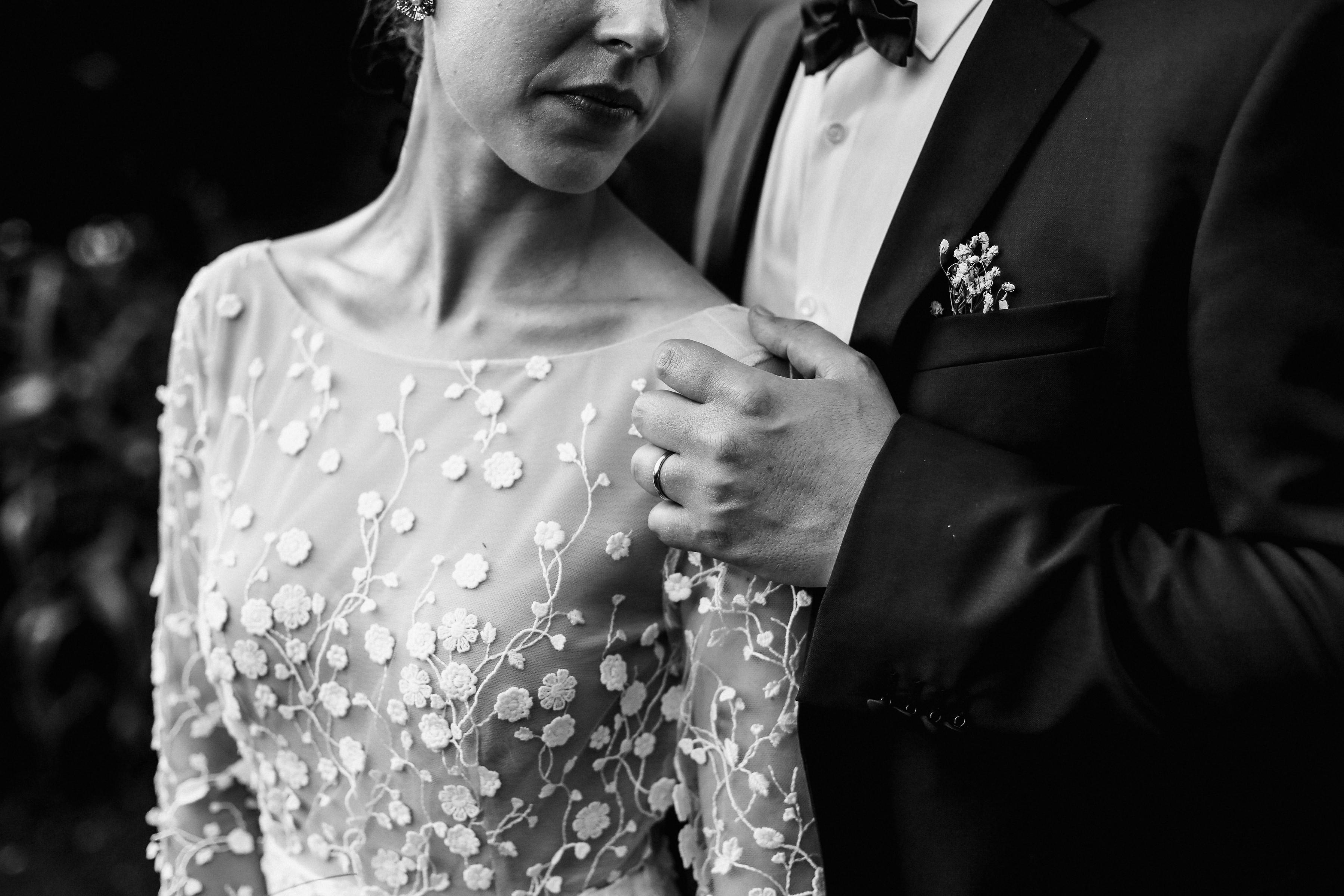 detail of applique gown - photo by Amandine Ropars