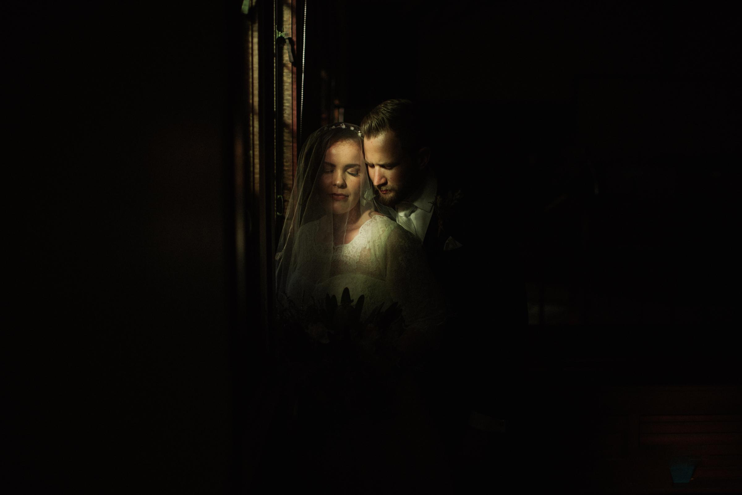 Atmospheric couple portrait - photo by Ben Sowry Photo