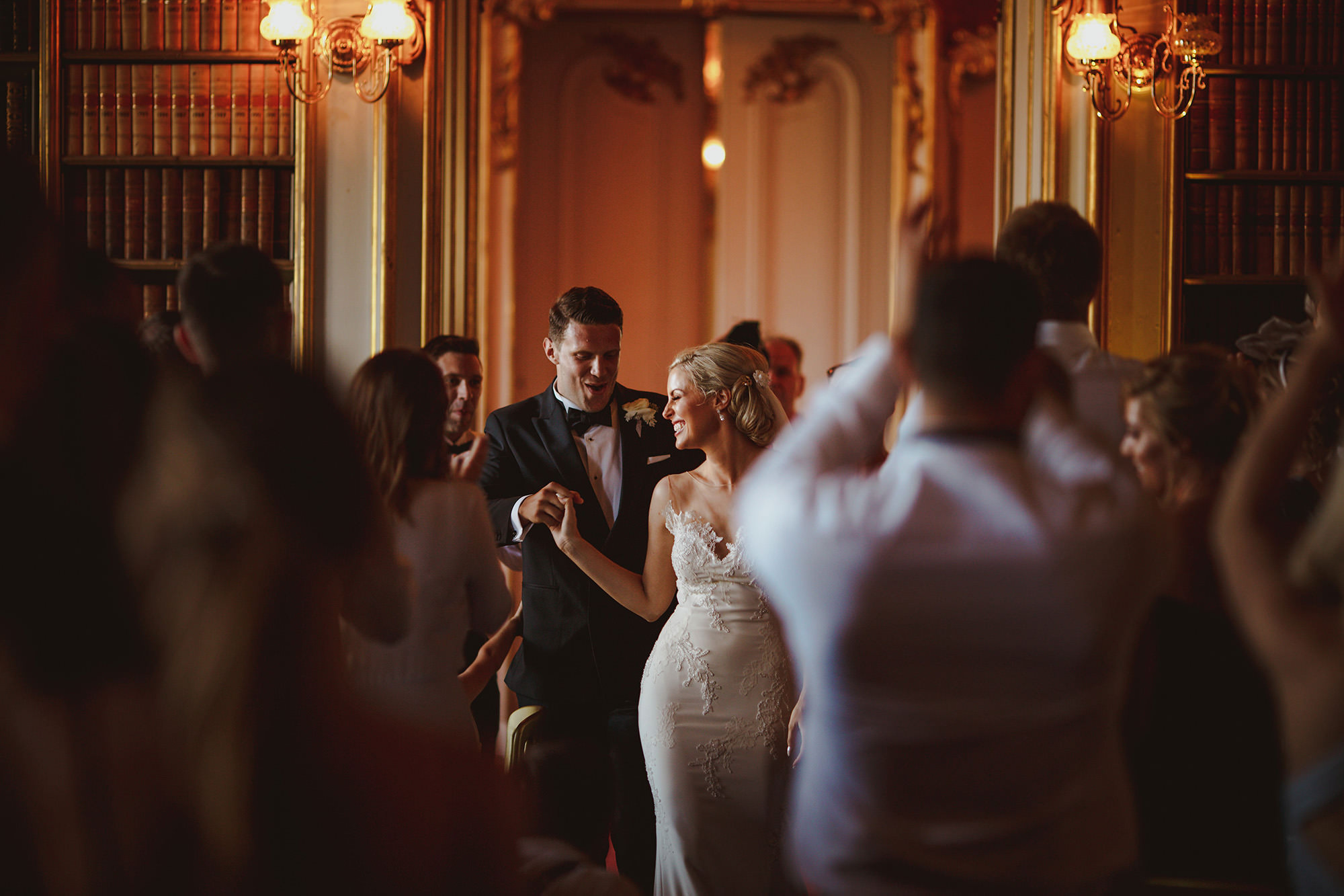 Couple dancing at Wrest Park reception hall - photo by Motiejus