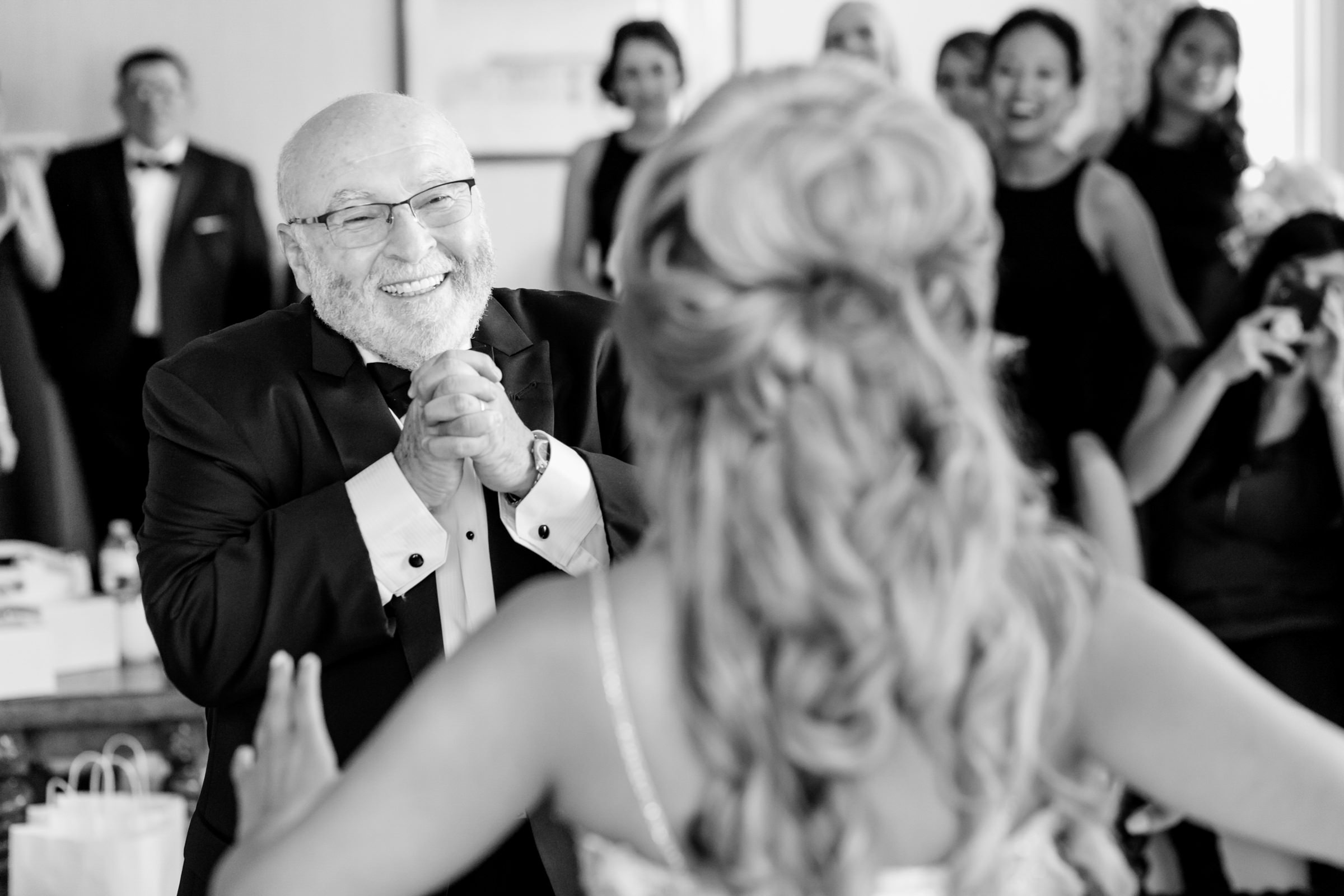 Delighted father at first look - photo by Procopio Photography