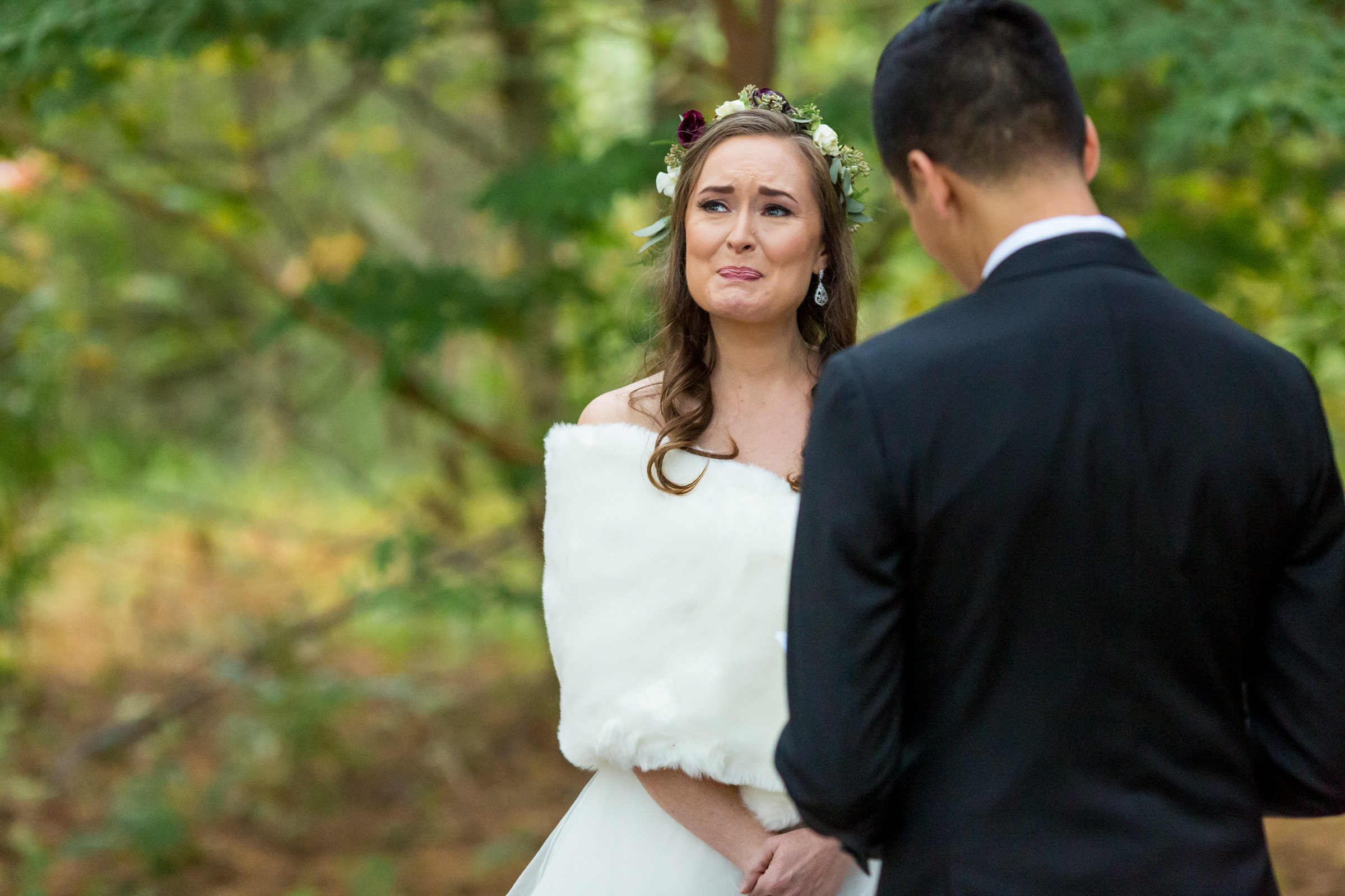Emotional moment for bride at ceremony - photo by Procopio Photography