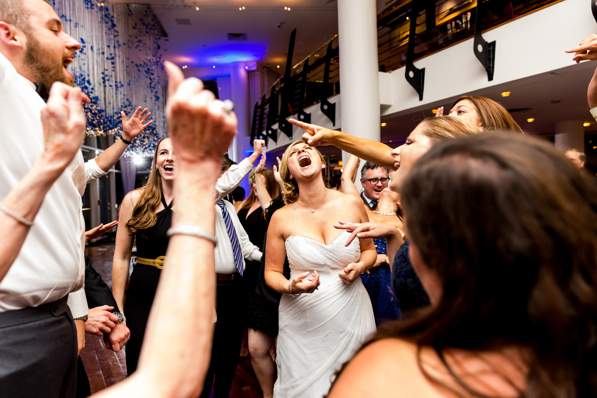 Bride and guests singing - photo by Procopio Photography