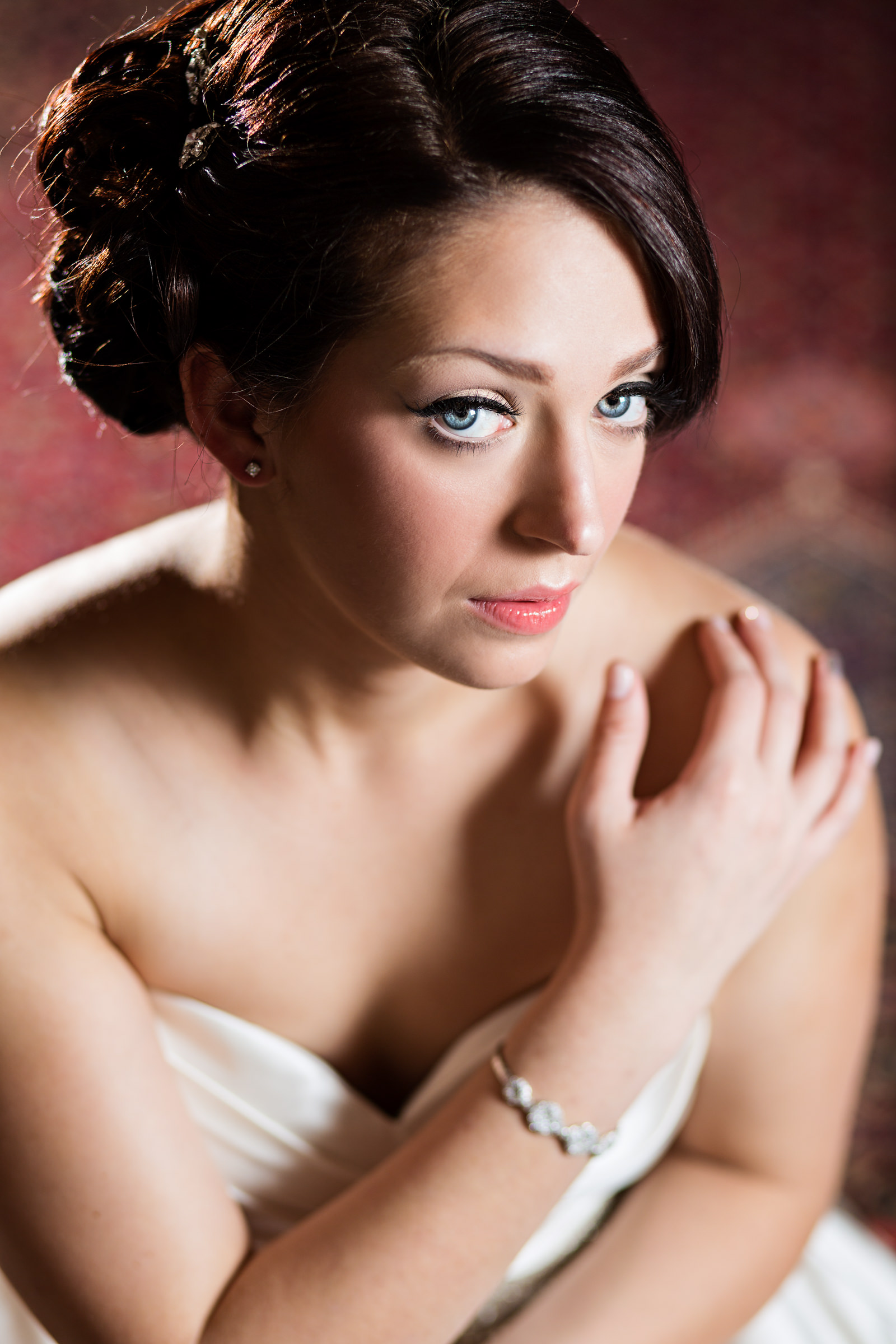 Closeup bridal portrait - photo by Procopio Photography