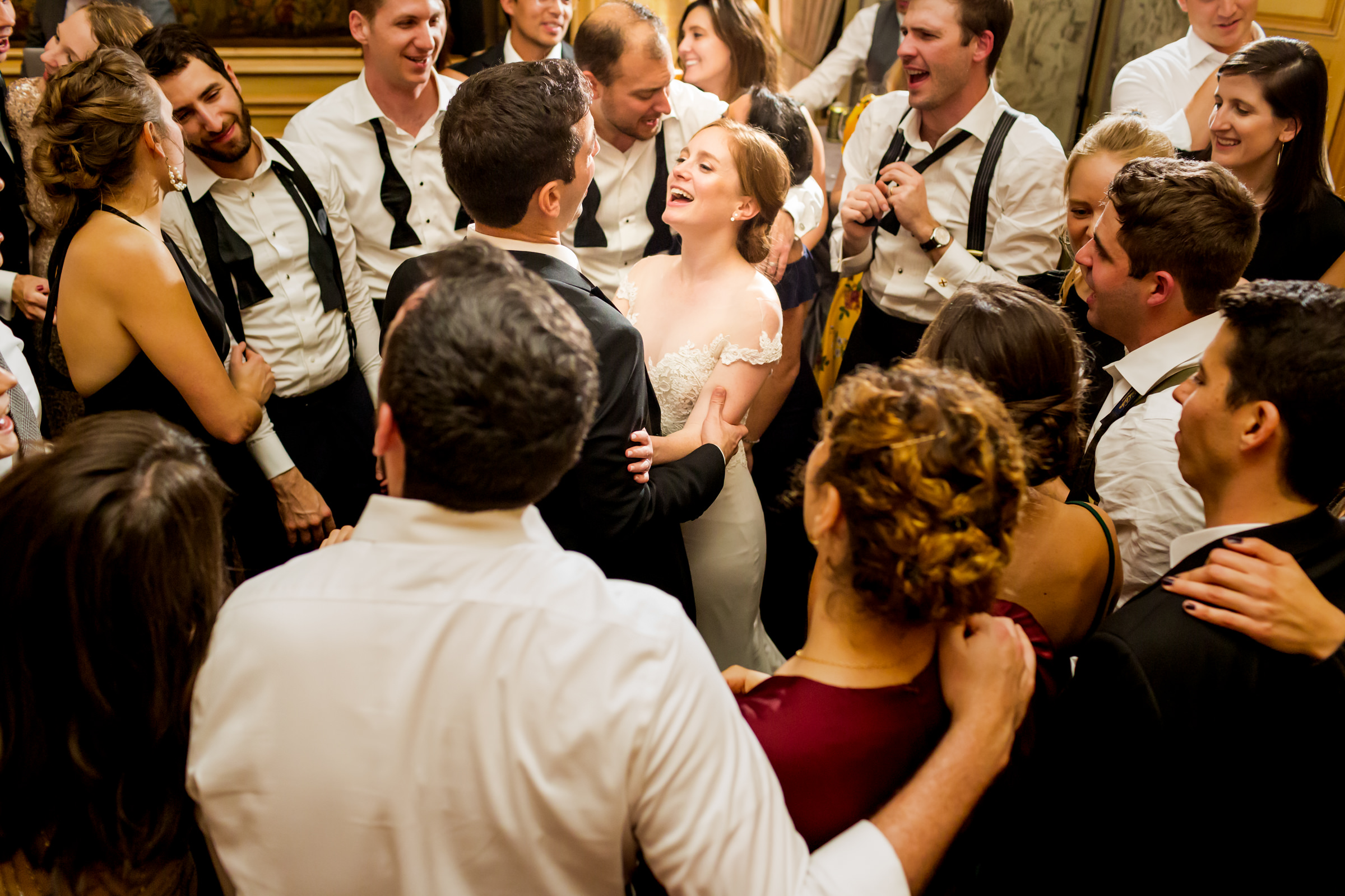 Couple amidst guests - photo by Procopio Photography