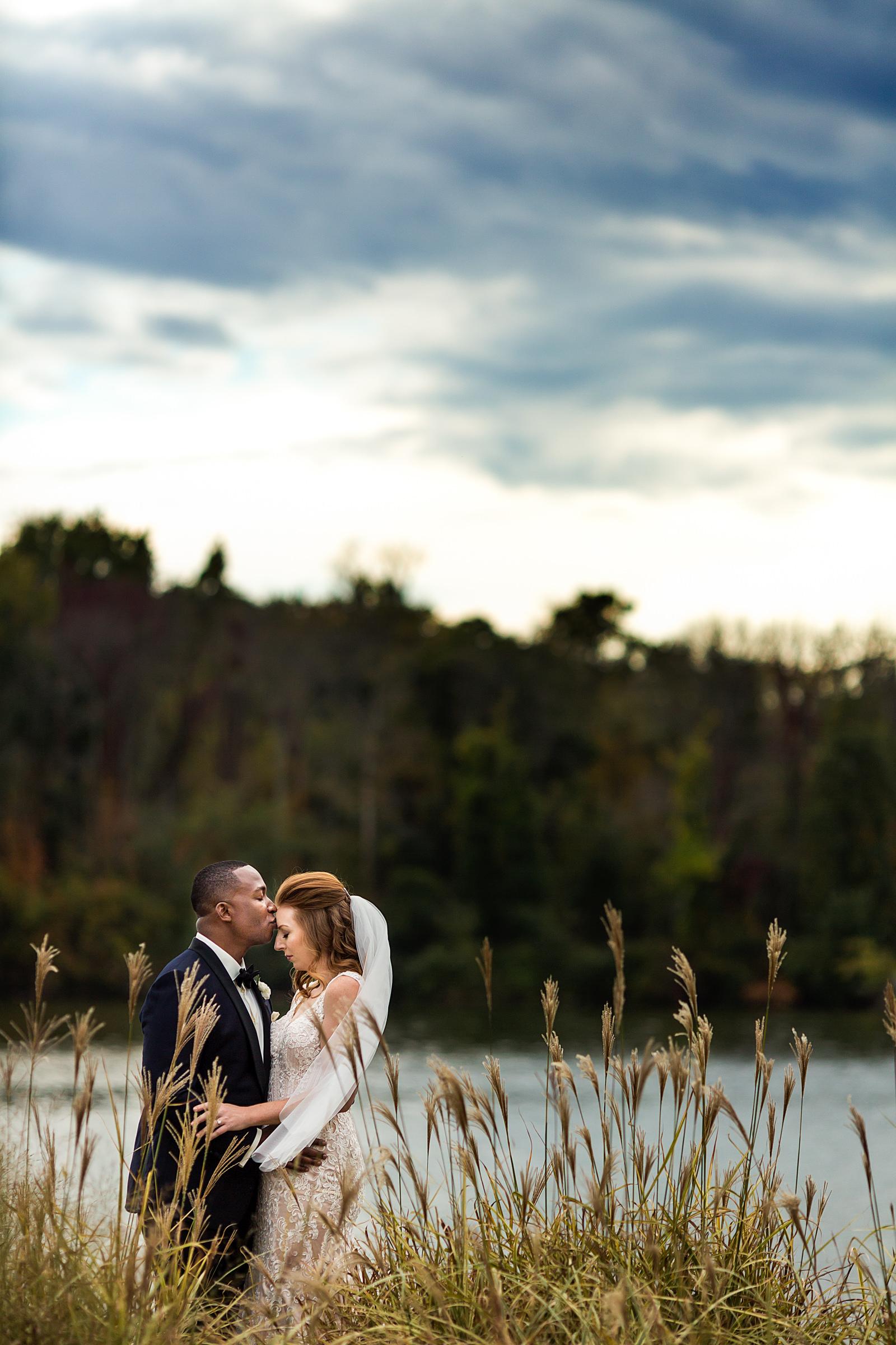 Couple portrait against grasses - photo by Procopio Photography