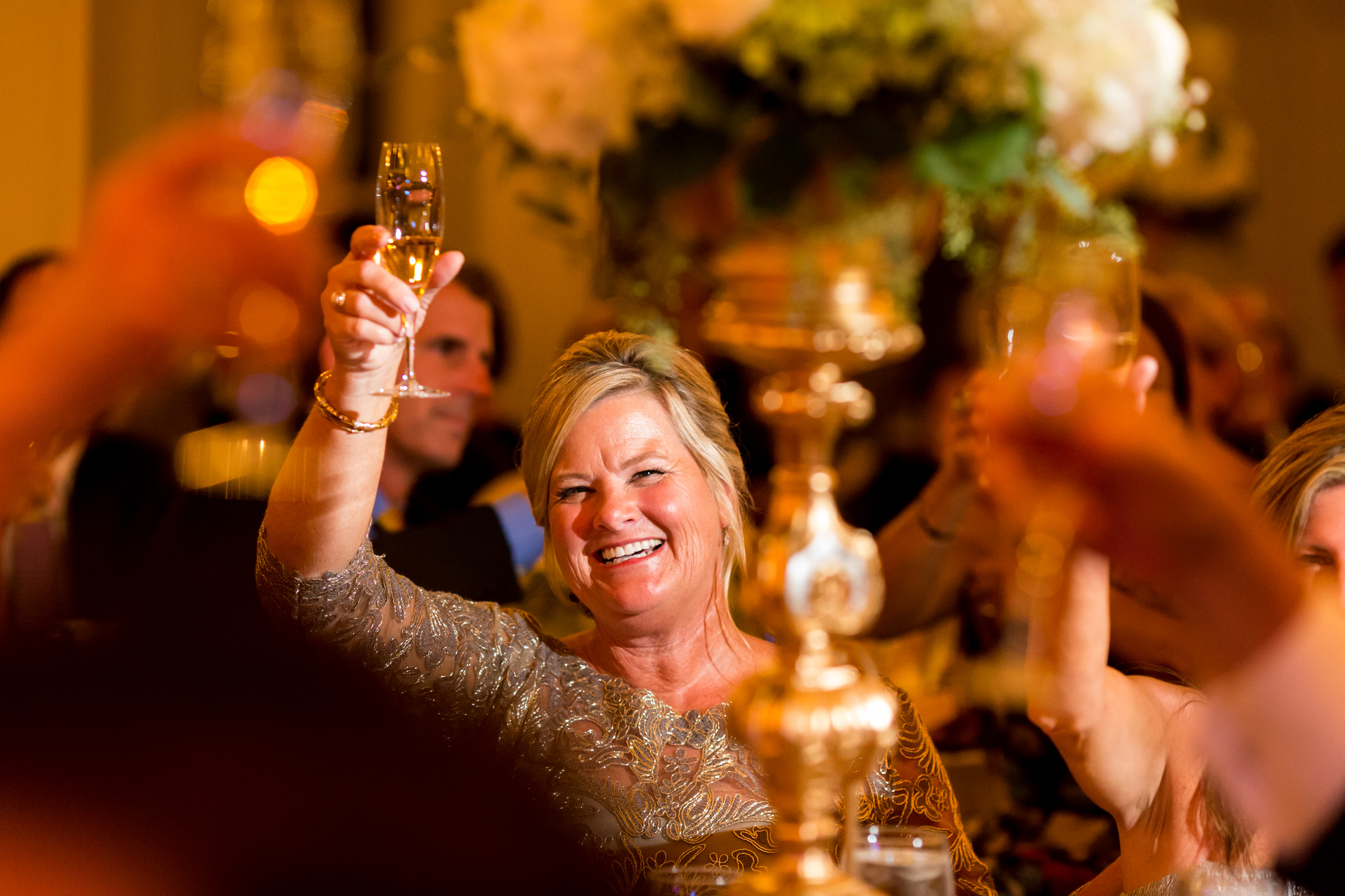Guests toasting - photo by Procopio Photography