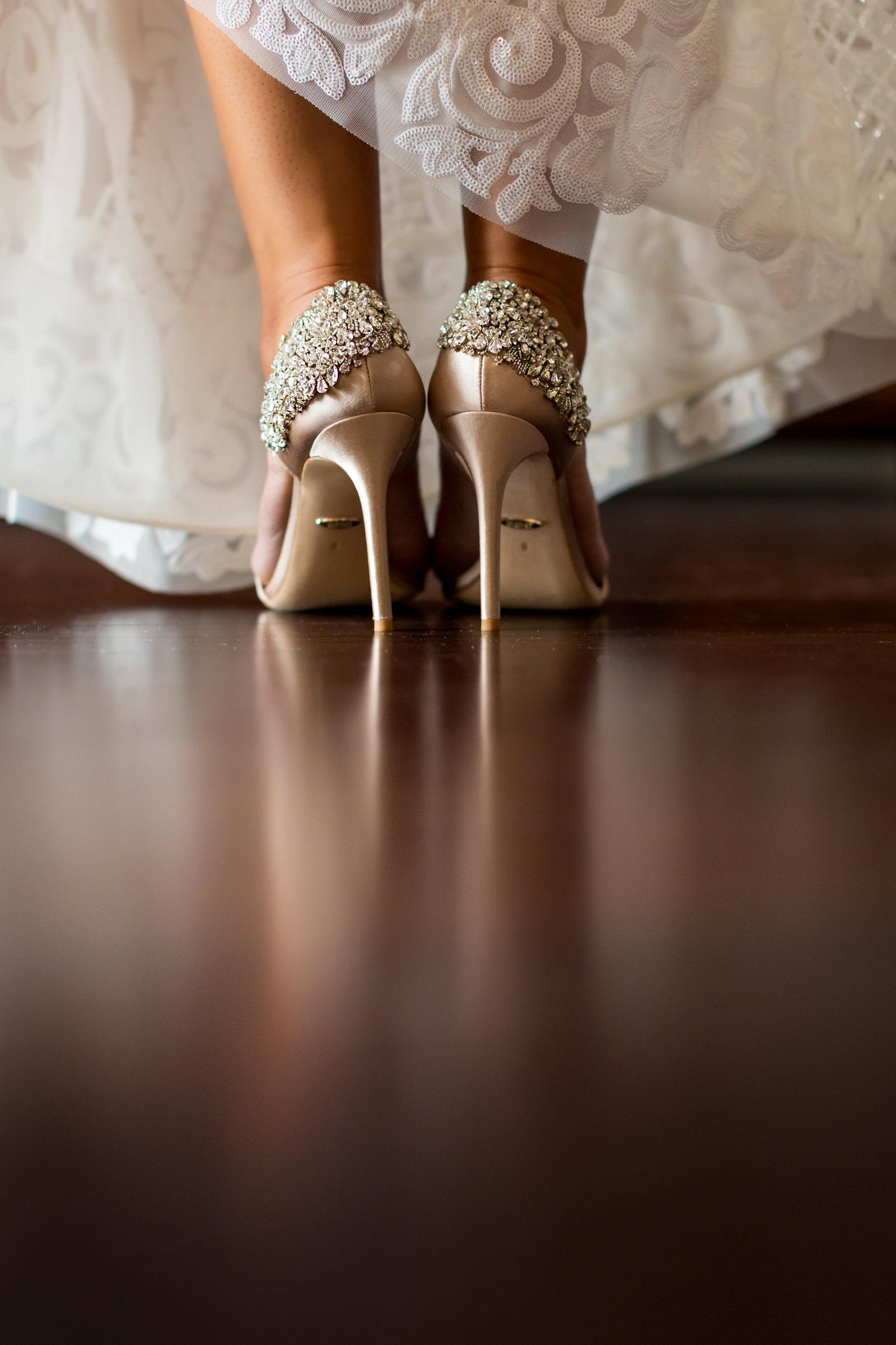 Jimmy Choo bead encrusted pink heels - photo by Procopio Photography